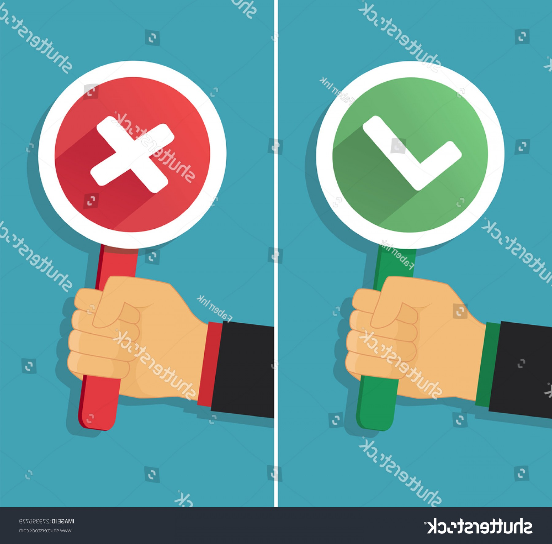 False Vector Style: Vector Hand True False Sign Flat
