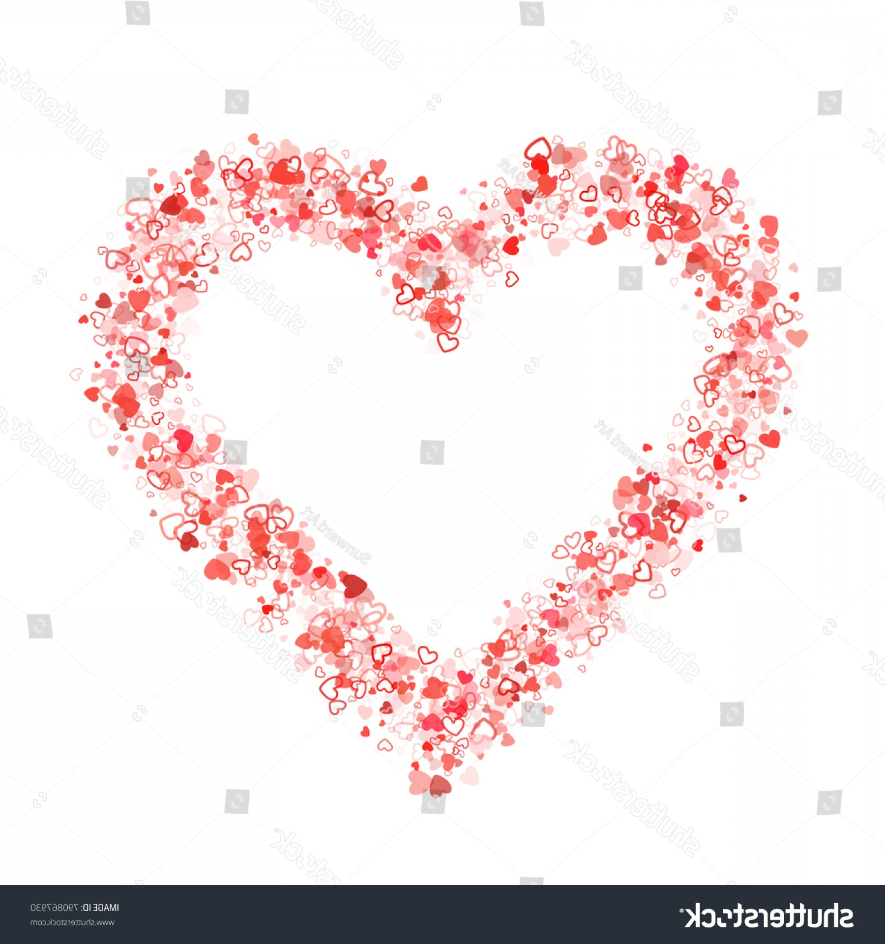 Cool Vector Hearts Pattern Symbol Pattern: Vector Heart Shape Outline Pattern Isolated