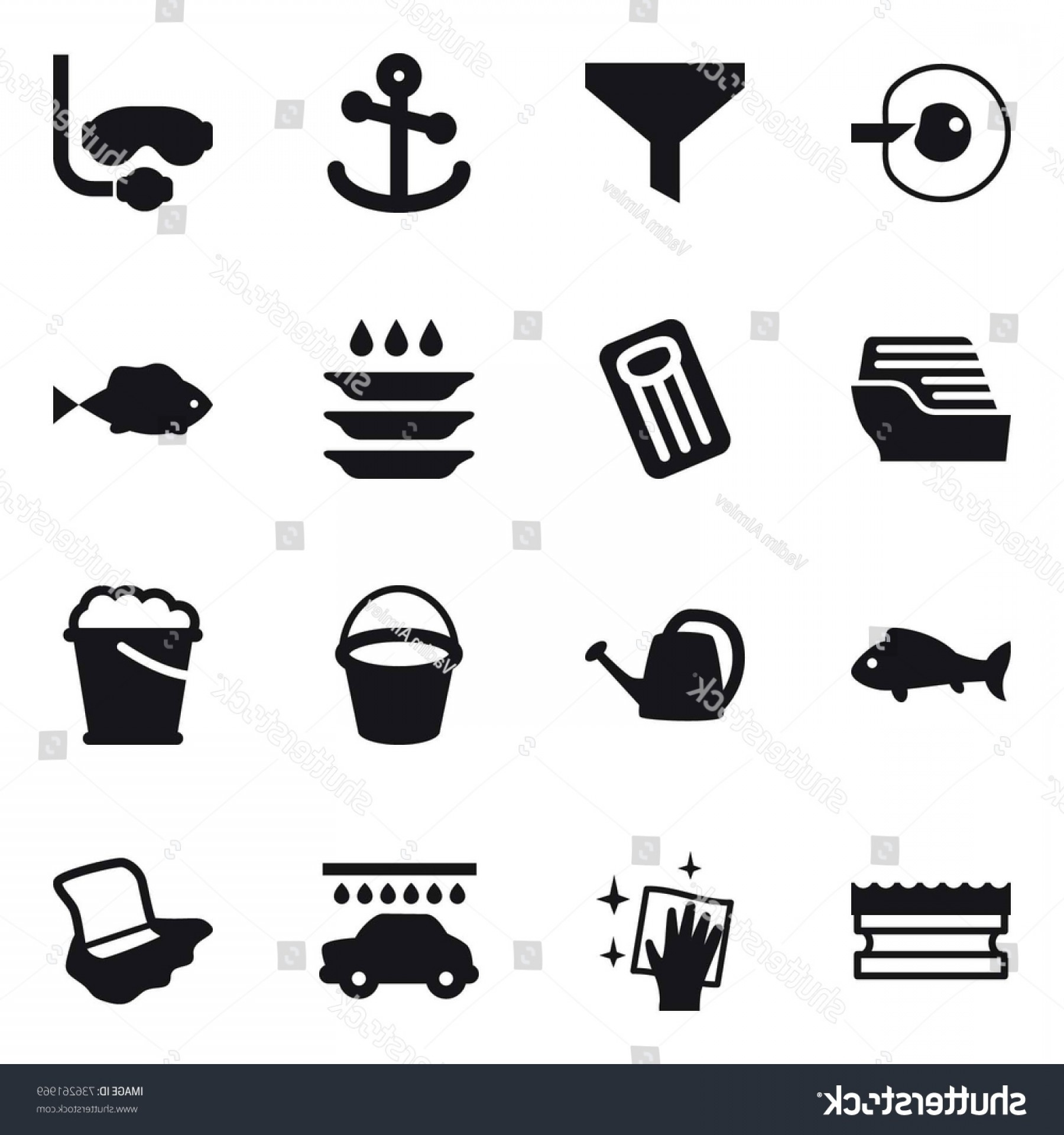 Dive Mask E Vectors: Vector Icon Set Cell Corection
