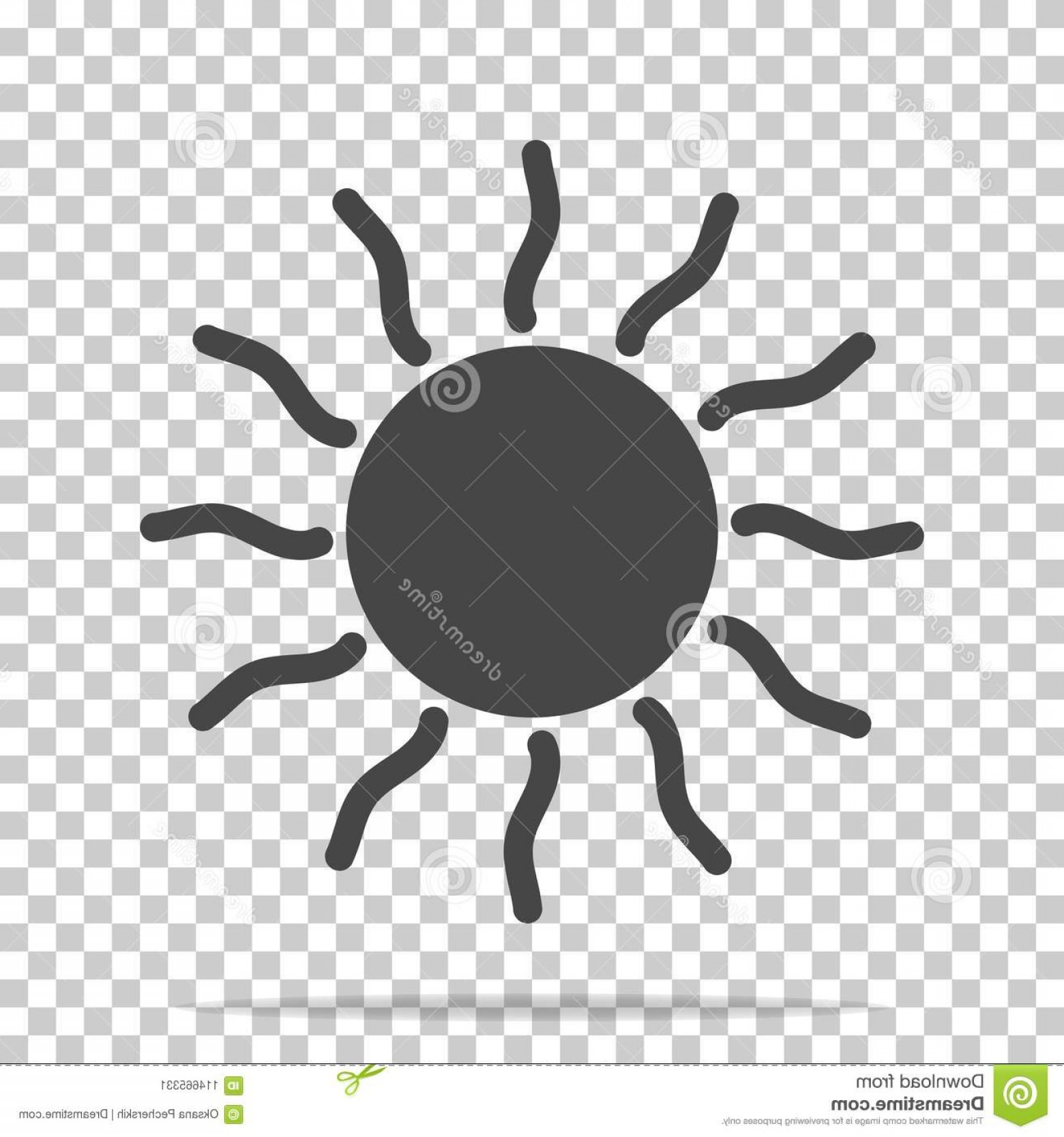 Easy Spider Vector Illustration: Vector Icon Sun Transparent Background Layers Grouped Easy Editing Illustration Your Design Image