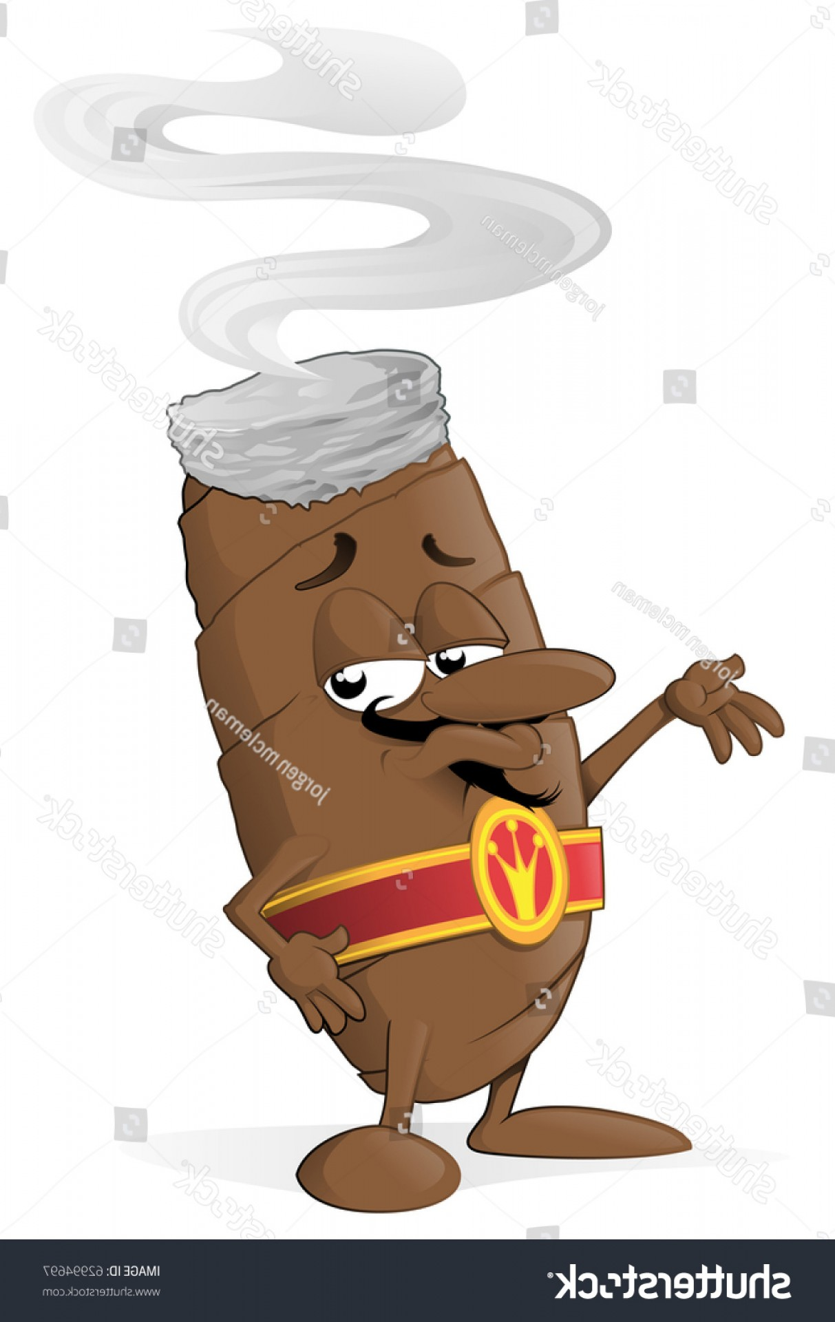 Cigar Cartoon Vector: Vector Illustration Cartoon Cigar Character Standing