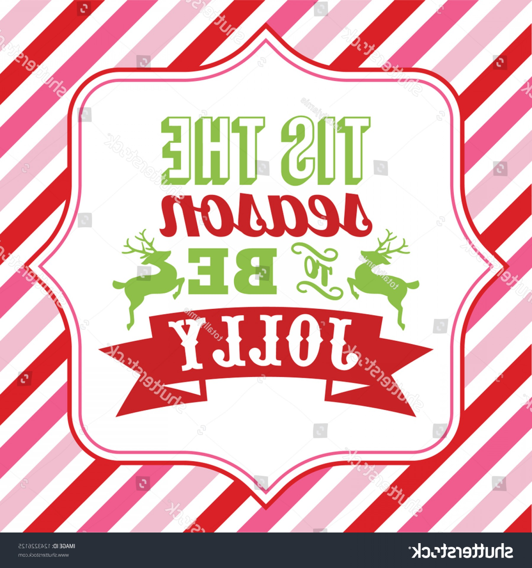 Christmas Vector Sayingd: Vector Illustration Christmas Word Art Tis