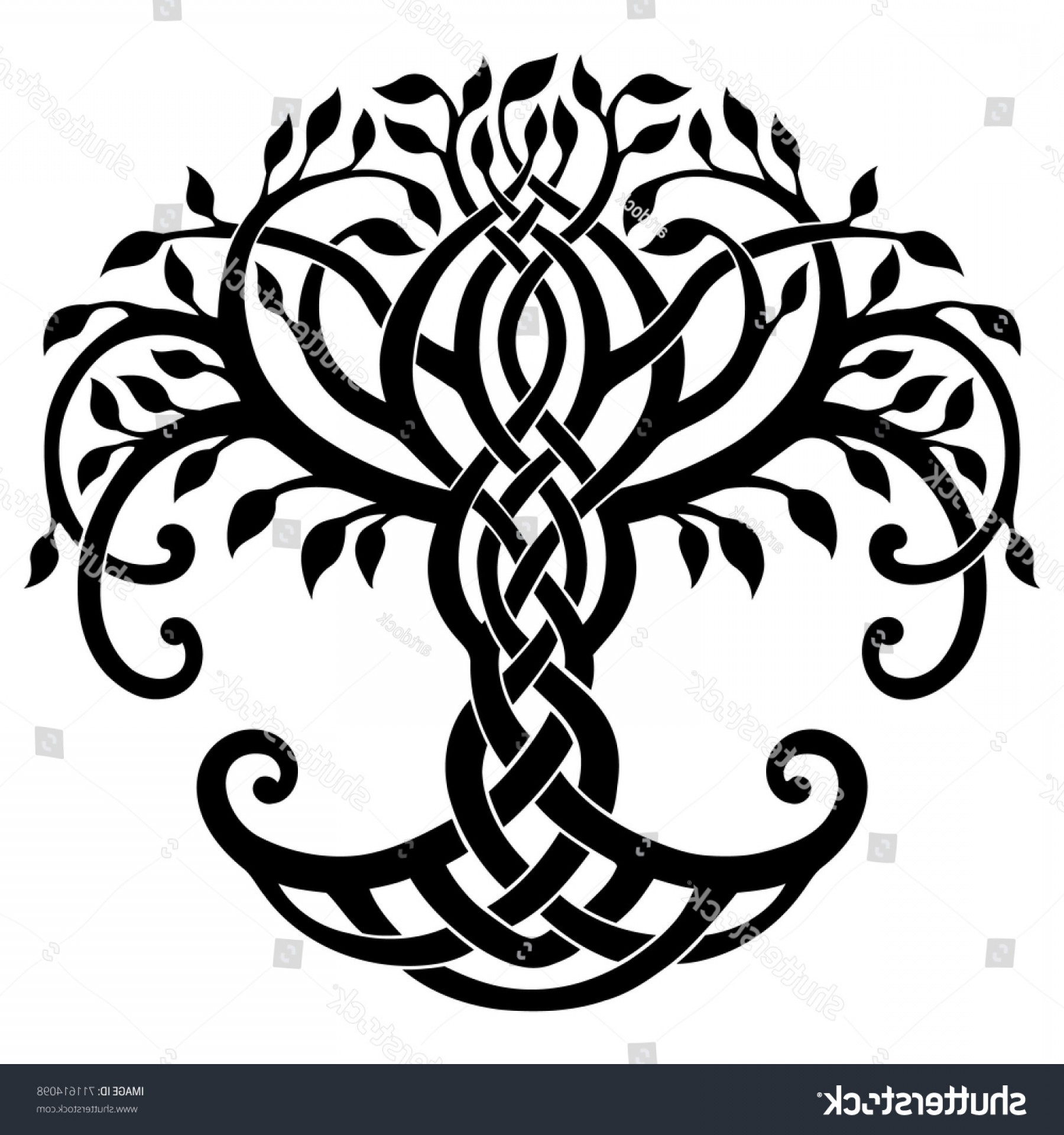 Celtic Tree Vector: Vector Illustration Decorative Celtic Tree Life