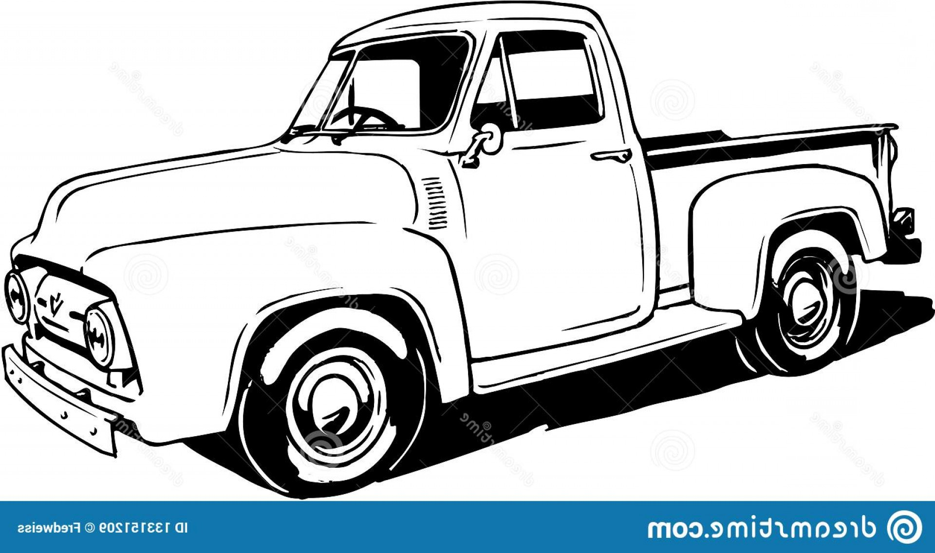 Ford Vector Art: Vector Illustration Ford Pickup Ford Pickup Illustration Image