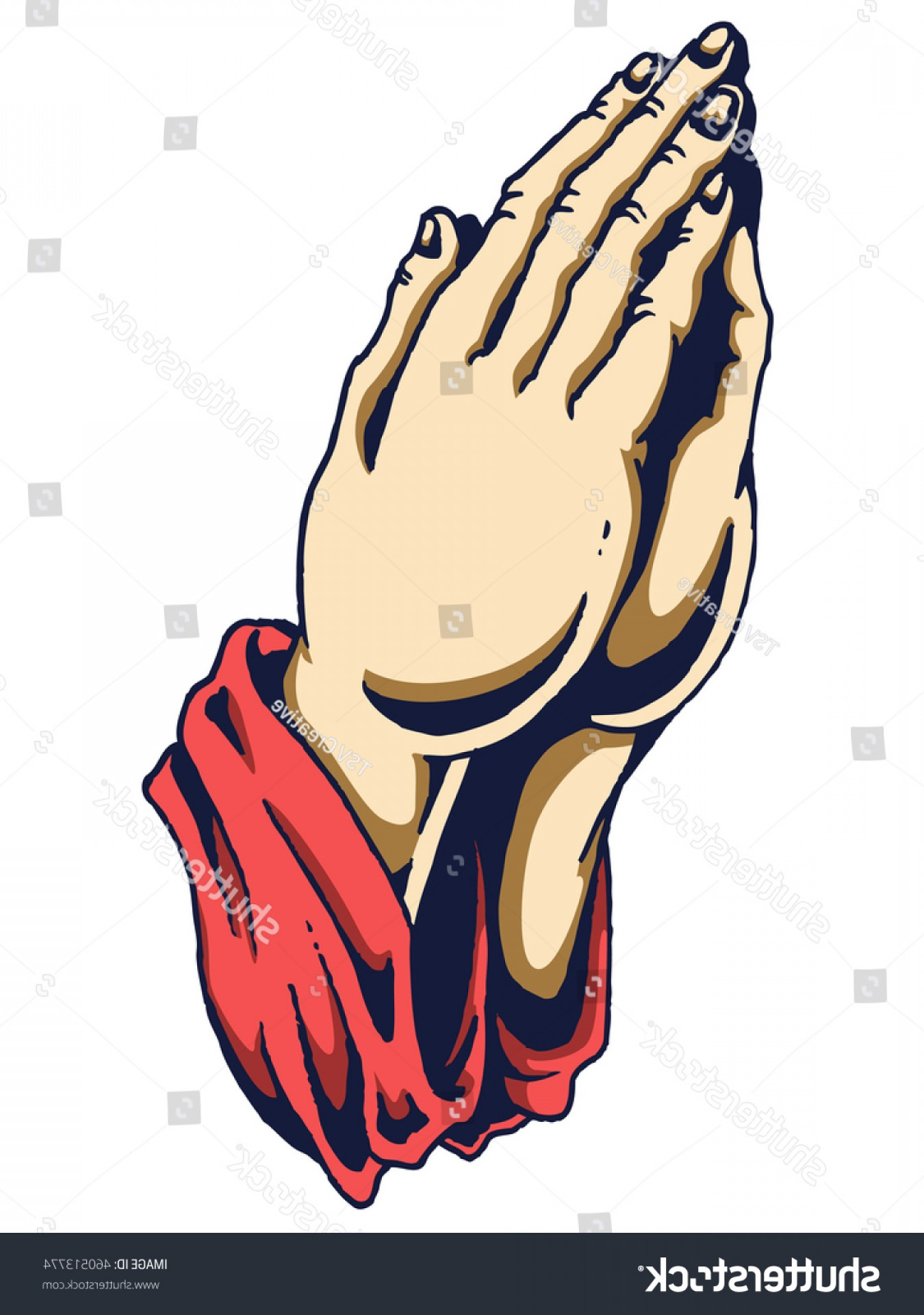 Praying Hands Vectors Shutterstock: Vector Illustration Human Hand Praying Position