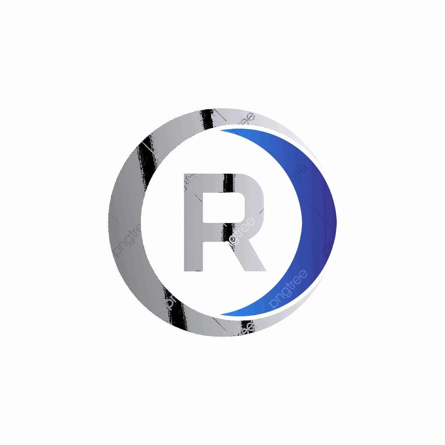 R Transparent Background Vector: Vector Illustration Initial Letter R And Circle Icon Logo Modern Design