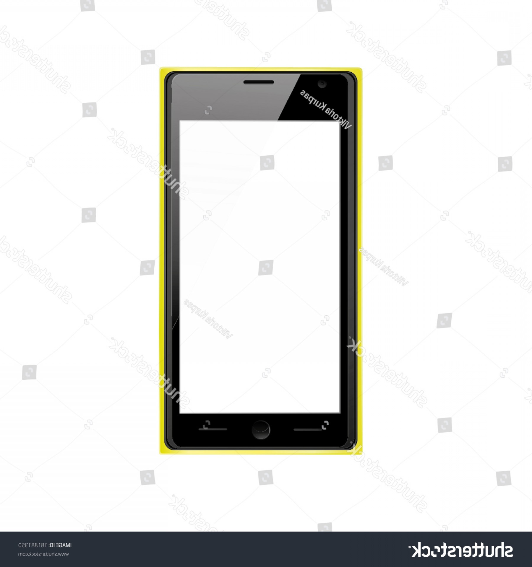 Search Logo Lumia Vector: Vector Illustration Modern Black Mobile Phone
