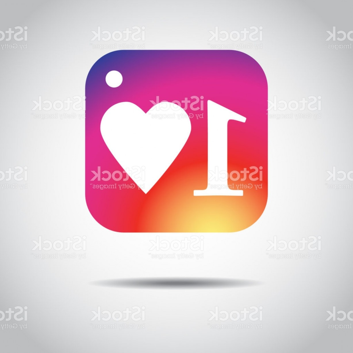 Instagram App Icon Vector: Vector Illustration New Counter Notification Icon Instagram Follower New Icon Like Gm