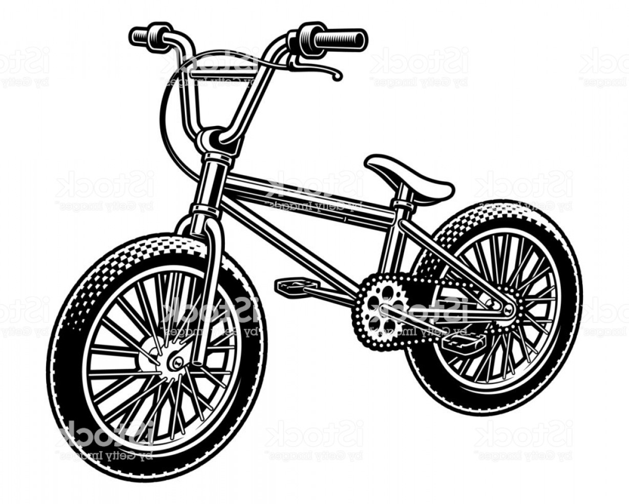 BMX Bike Tire Vector: Vector Illustration Of A Bmx Bicycle Gm