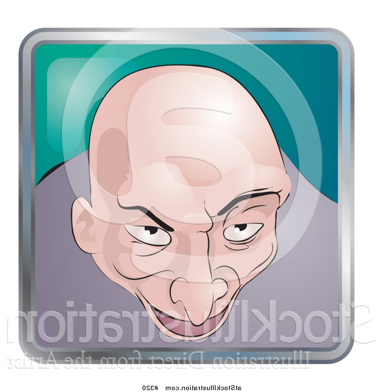 320 Vector: Vector Illustration Of A Creepy Bald Man By Atstockillustration