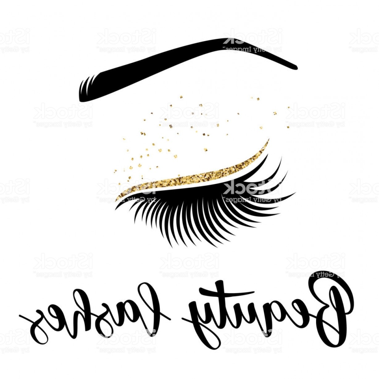 Top Eye Lashes Vector: Vector Illustration Of Beauty Lashes Gm