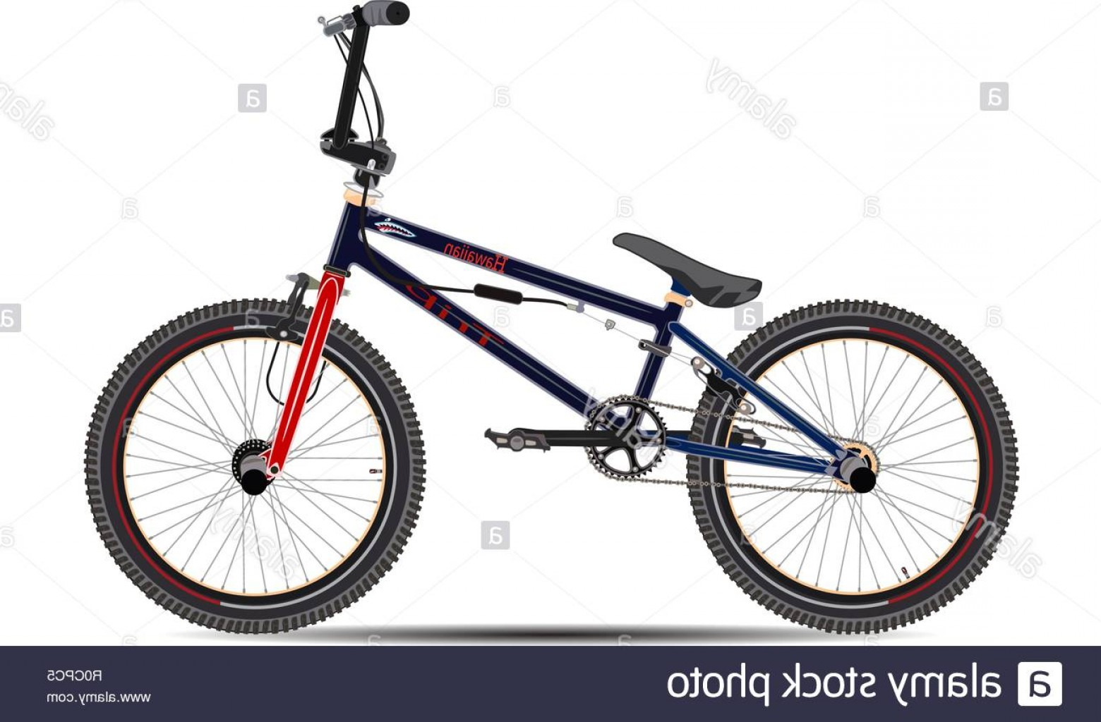 BMX Bike Tire Vector: Vector Illustration Of Bmx Bike In Flat Style Image