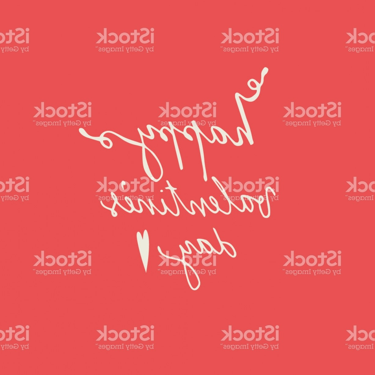Small Arrow Vector: Vector Illustration Of Happy Valentines Day Words And Small Arrow Isolated On Red Gm