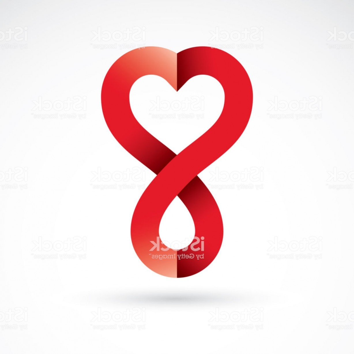 Vector Infinity Symbol Hearts: Vector Illustration Of Heart Shape And Infinity Symbol Hematology Theme Medical Gm