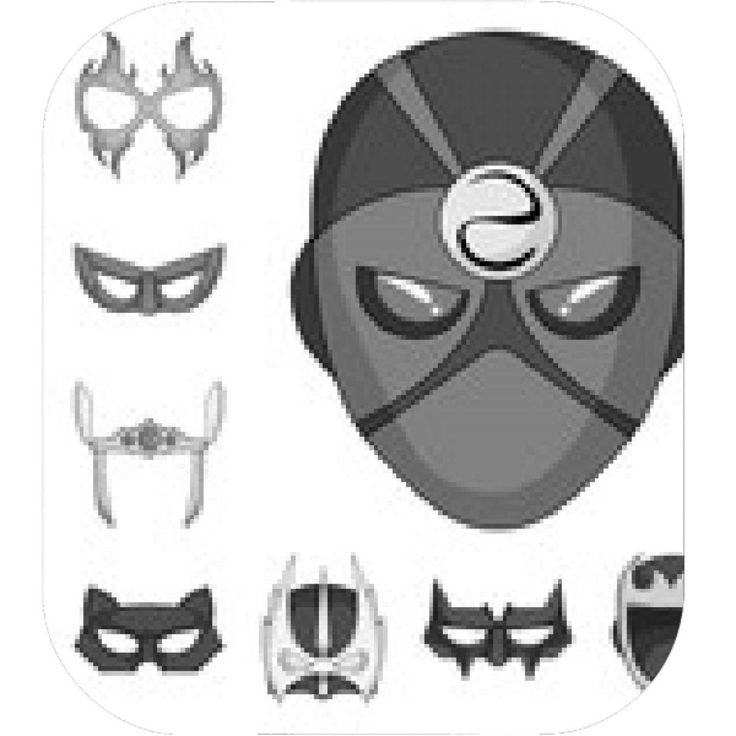 Batman Mask Sketch Vector: Vector Illustration Of Hero And Mask Logo Set Of Hero And Superhero Vector Icon For Stock