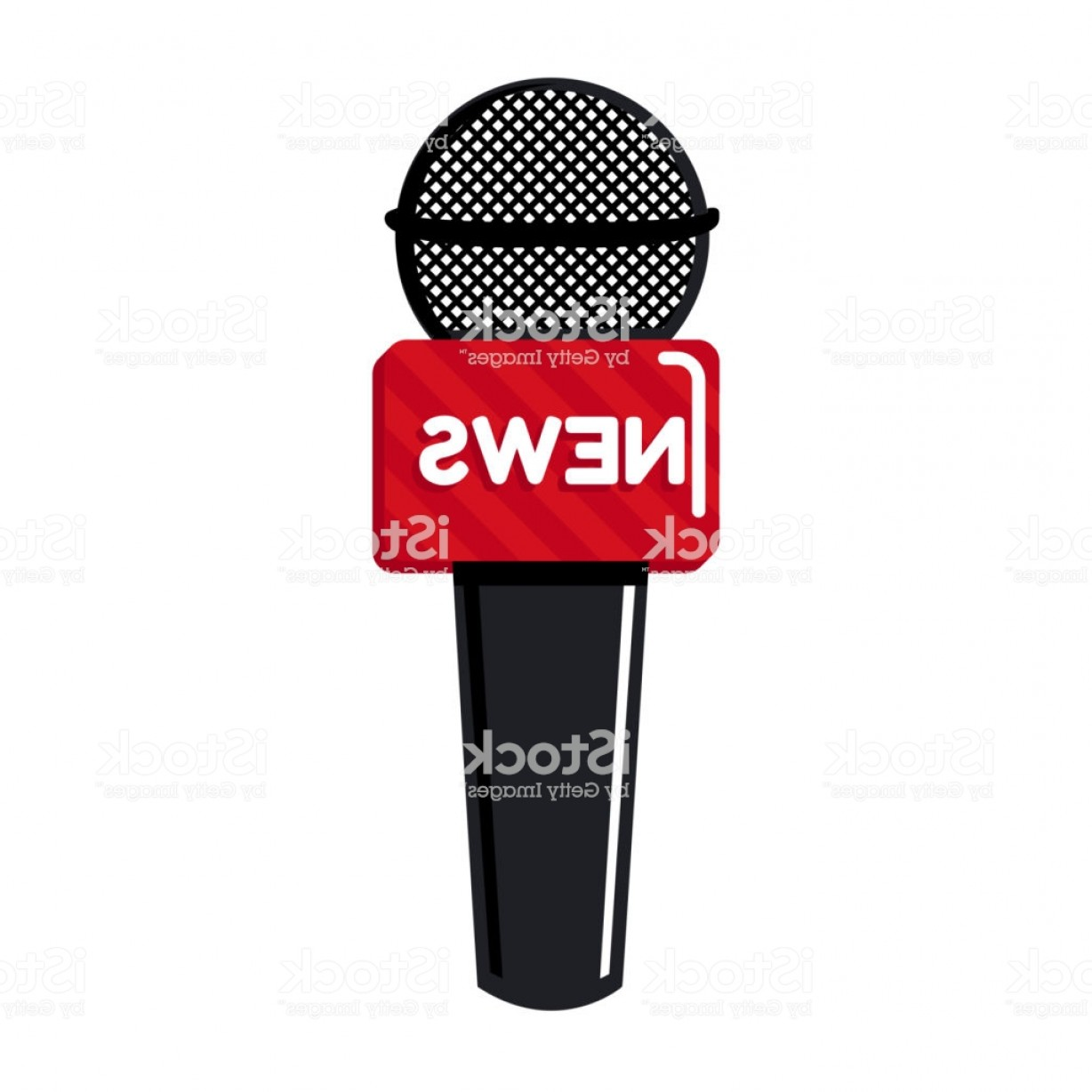 Mics Vector Designs: Vector Illustration Of Microphone Icon Breaking News Concept Gm