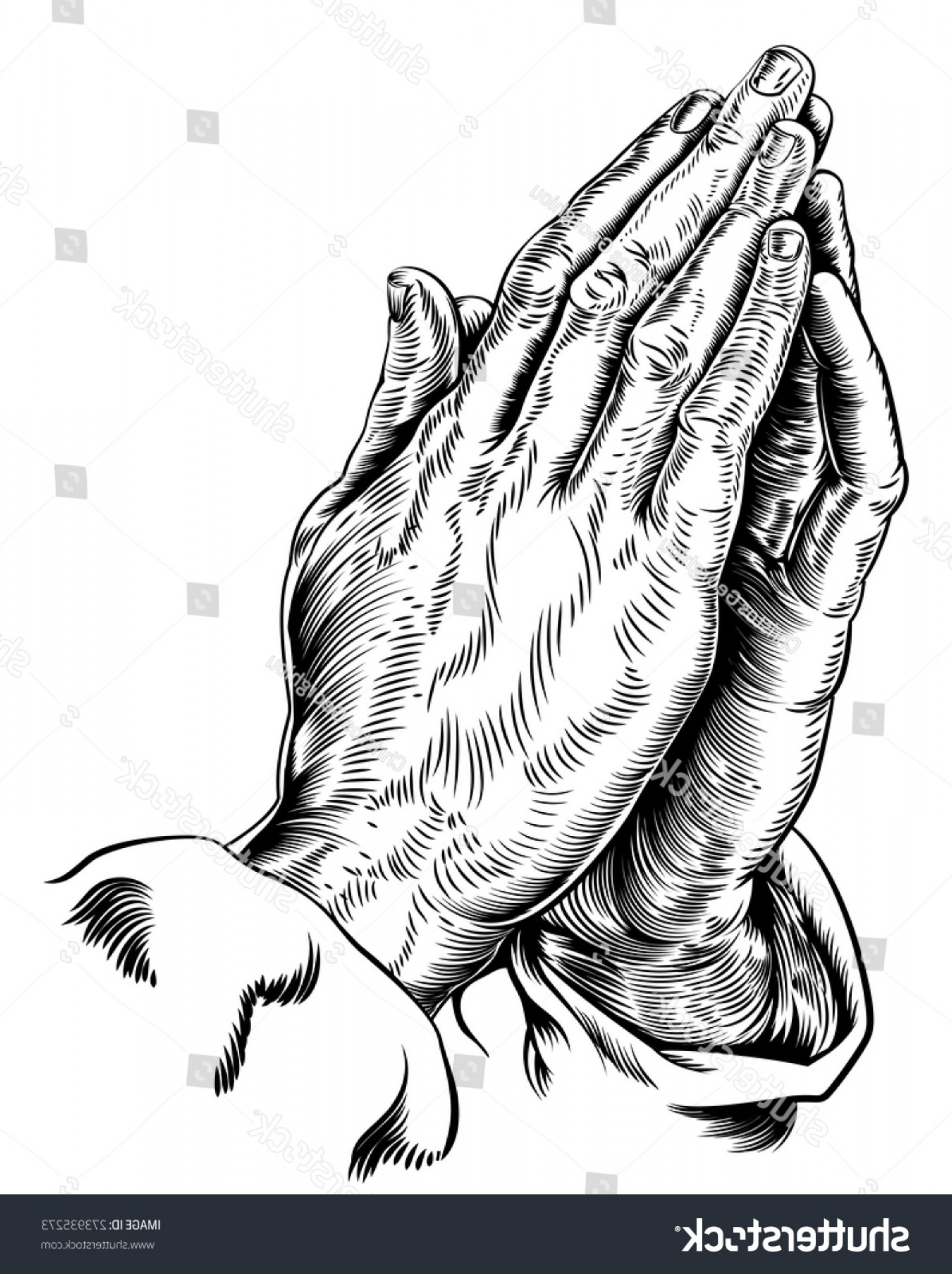 Praying Hands Vectors Shutterstock: Vector Illustration Praying Hands Inspired By