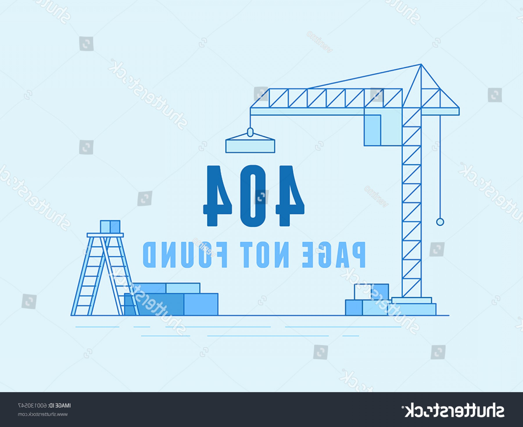 Vector Under Construction Template: Vector Illustration Trendy Line Flat Style