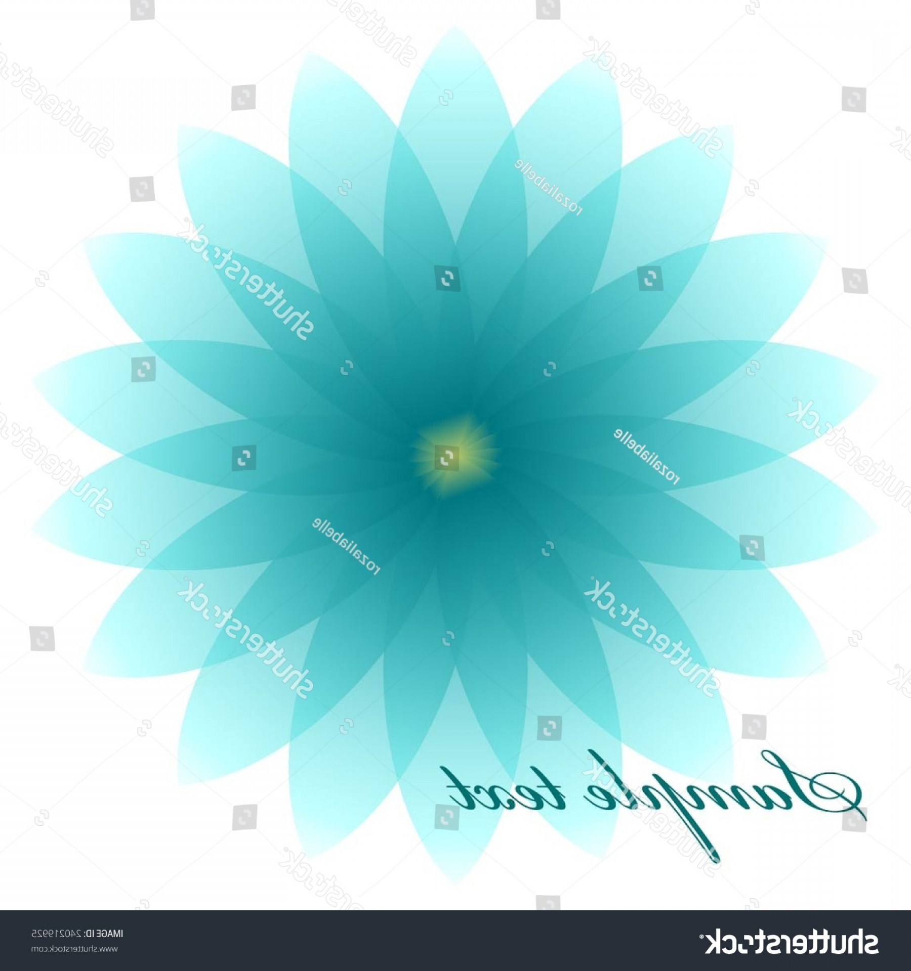 Turquoise Flower Vector: Vector Illustration Turquoise Flower Lotus