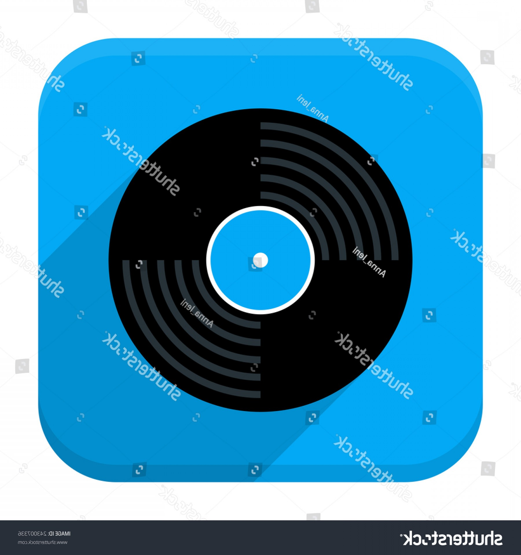 Vinyl Vector Tools: Vector Illustration Vinyl Record Disc Flat