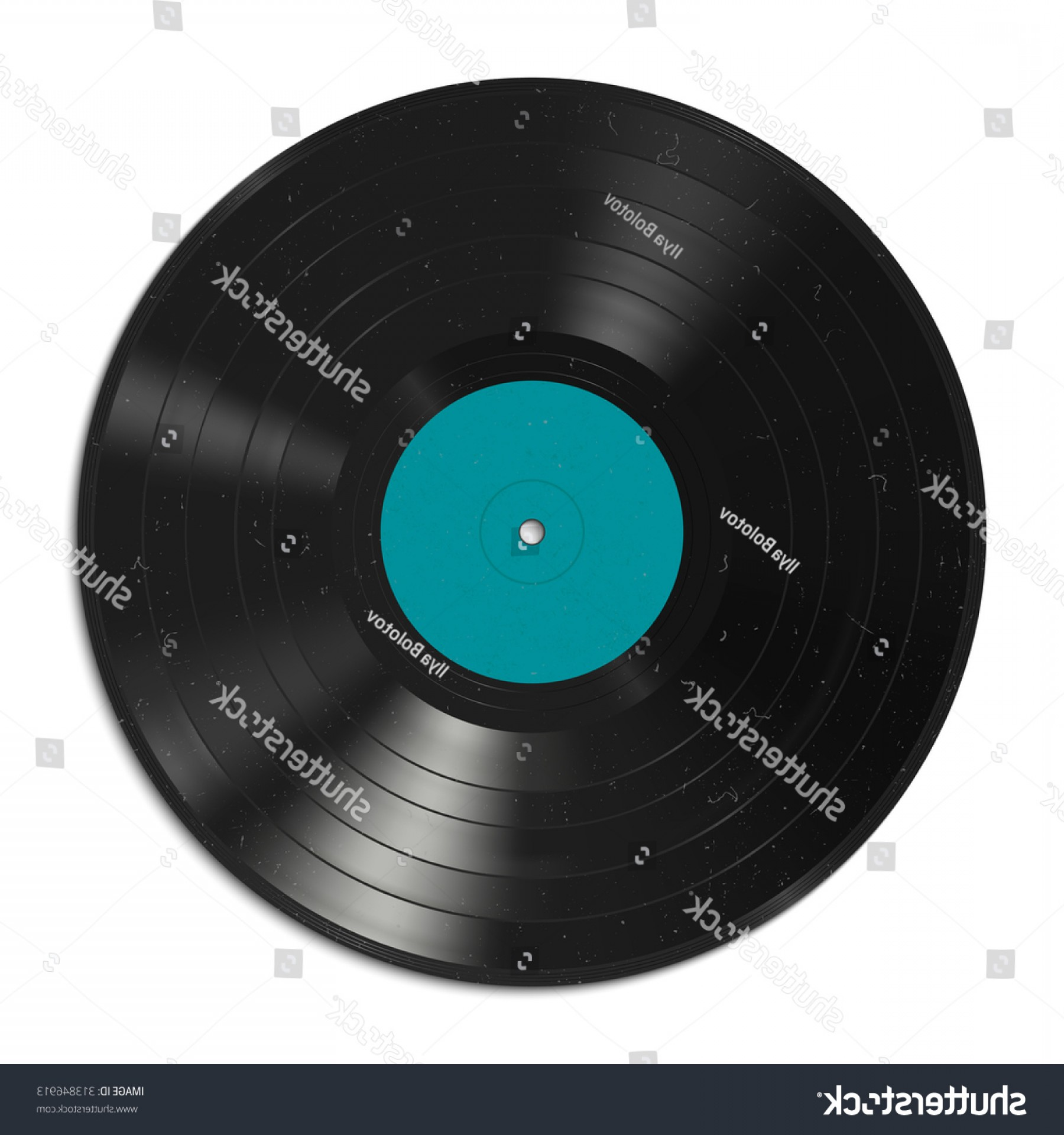Vinyl Vector Tools: Vector Illustration Vinyl Record Dust On