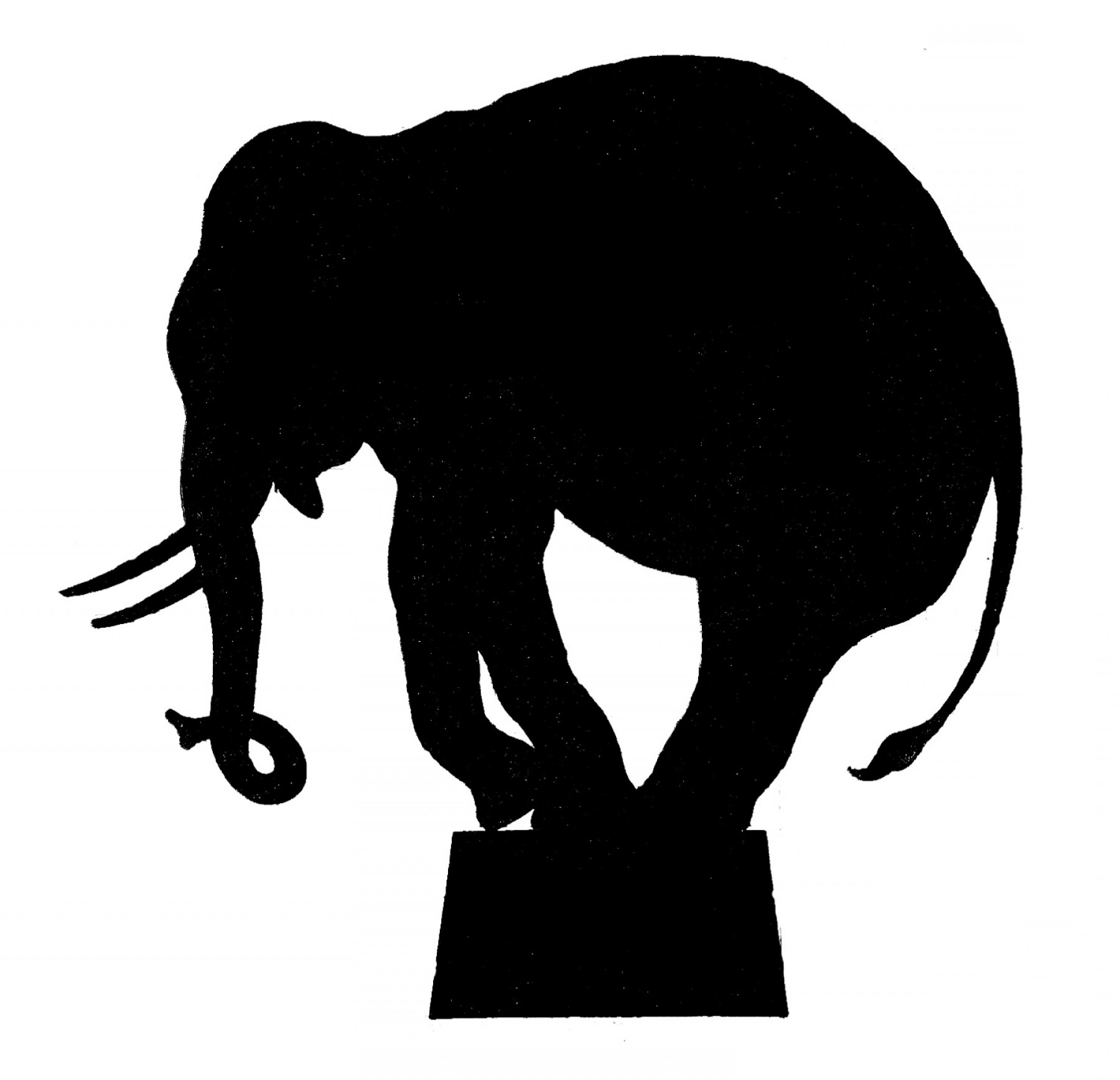 Circus Animals Vector Graphic: Vector Image Downloads Circus Elephant Silhouette
