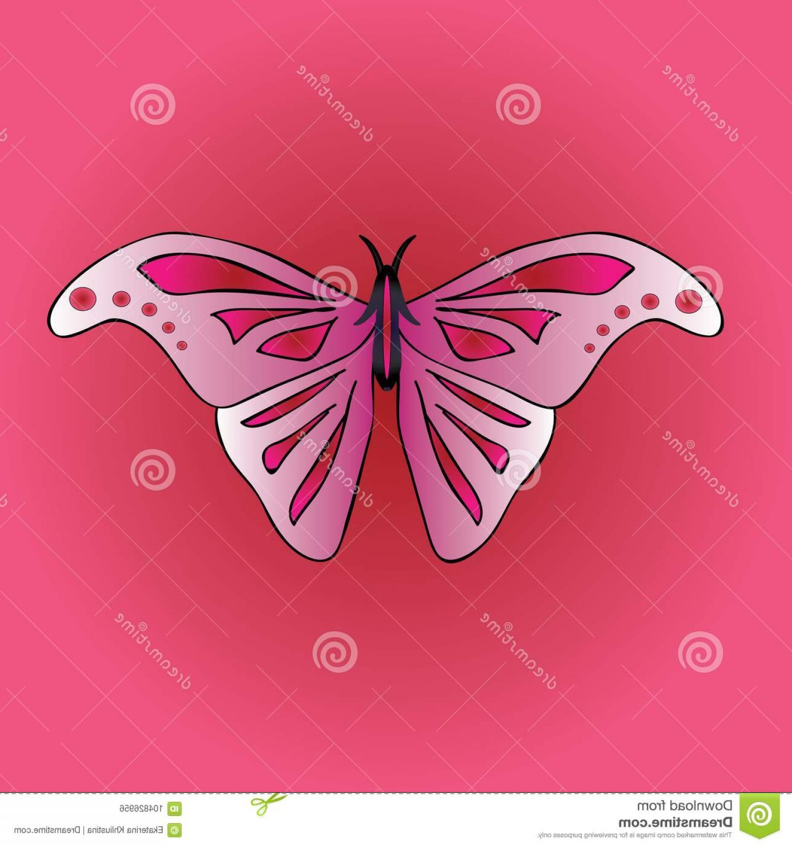 Vector Insect Light: Vector Image Large Symmetrical Butterfly Wings Insect Light Pink Beautiful Crimson Pattern Background Stylish Image