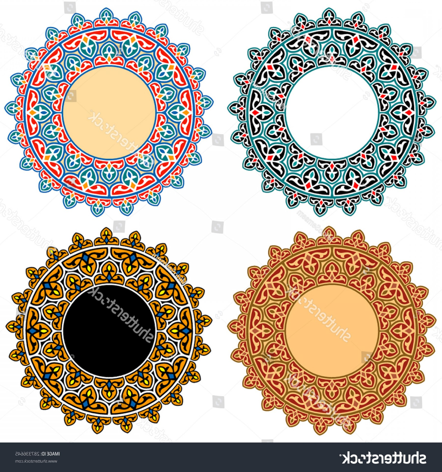 Open Source Vector Graphic Flower: Vector Islamic Floral Art Ornaments Open