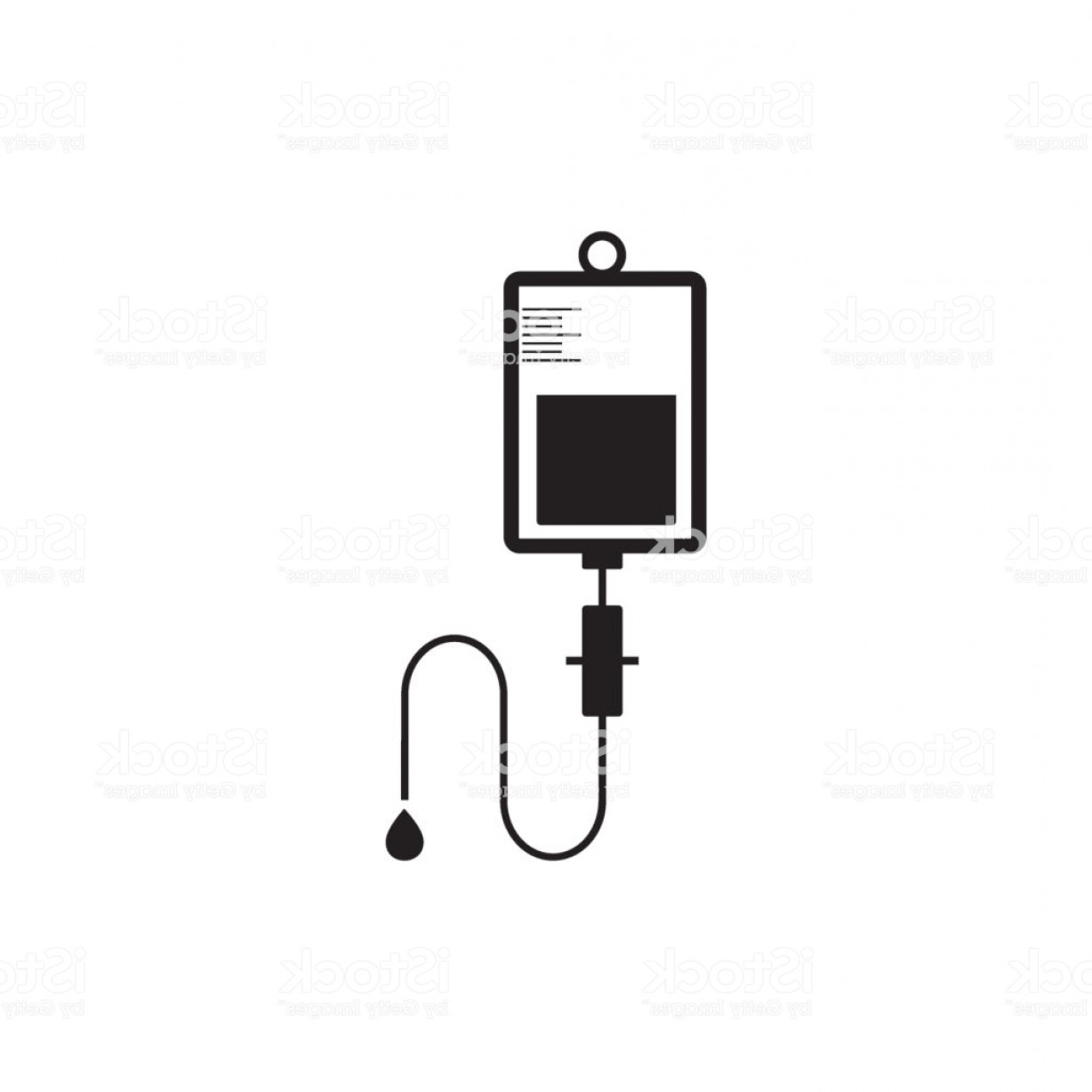 Vector IV: Vector Iv Bag Icon Saline Symbol On Background The Concept Of Treatment And Therapy Gm