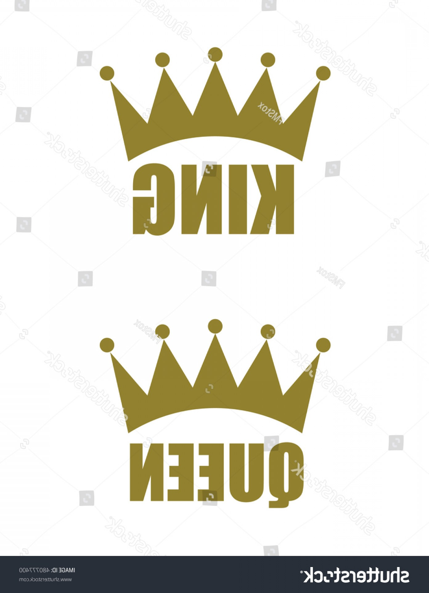 King And Queen Vector: Vector King Queen Crown Icons