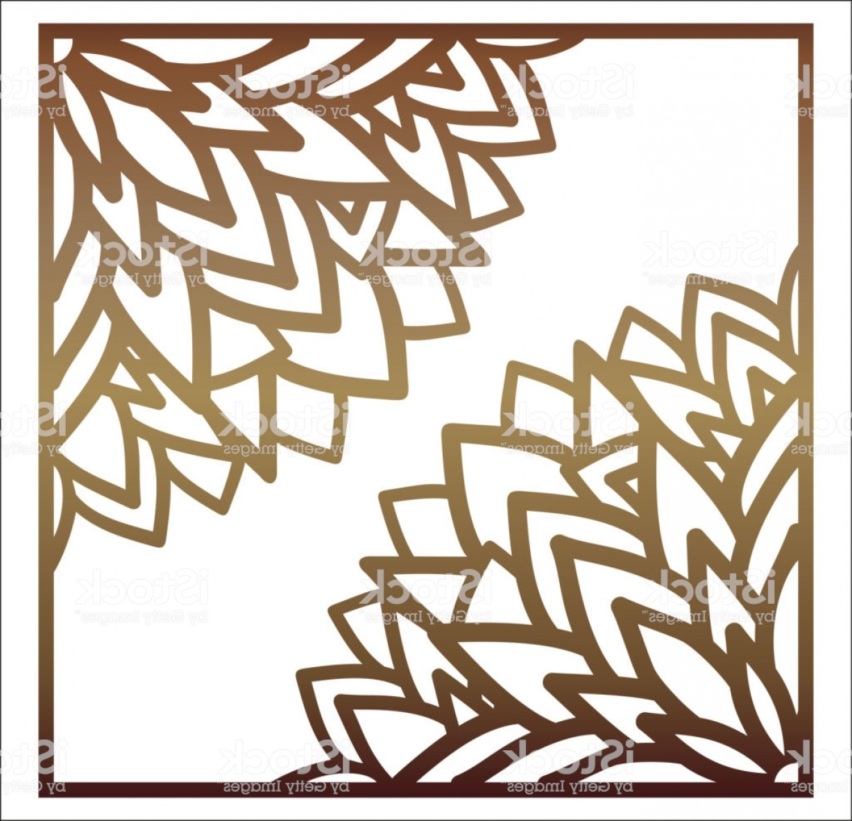 Champagne Vinyl Plotter Vector Art: Vector Laser Cut Panel Abstract Pattern Template For Decorative Panel Template For Gm