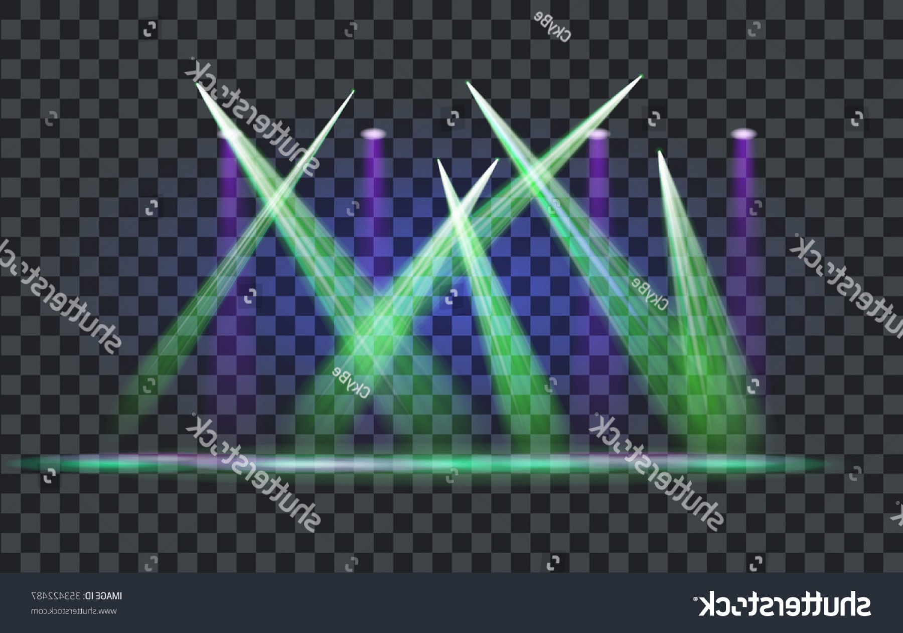 Vector Spotlight 3 Million: Vector Light Effect Spotlight Transparent Background