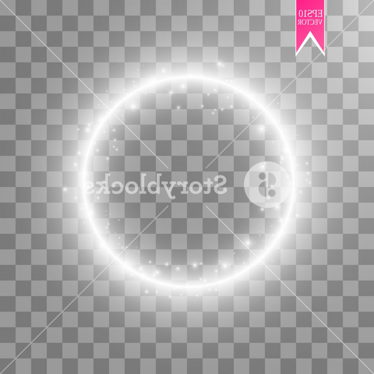 Twinkle Light Vector: Vector Light Ring Round Shiny Frame With Lights Dust Trail Particles Isolated On Transparent Background Magic Concept Szwmglqjiwtda