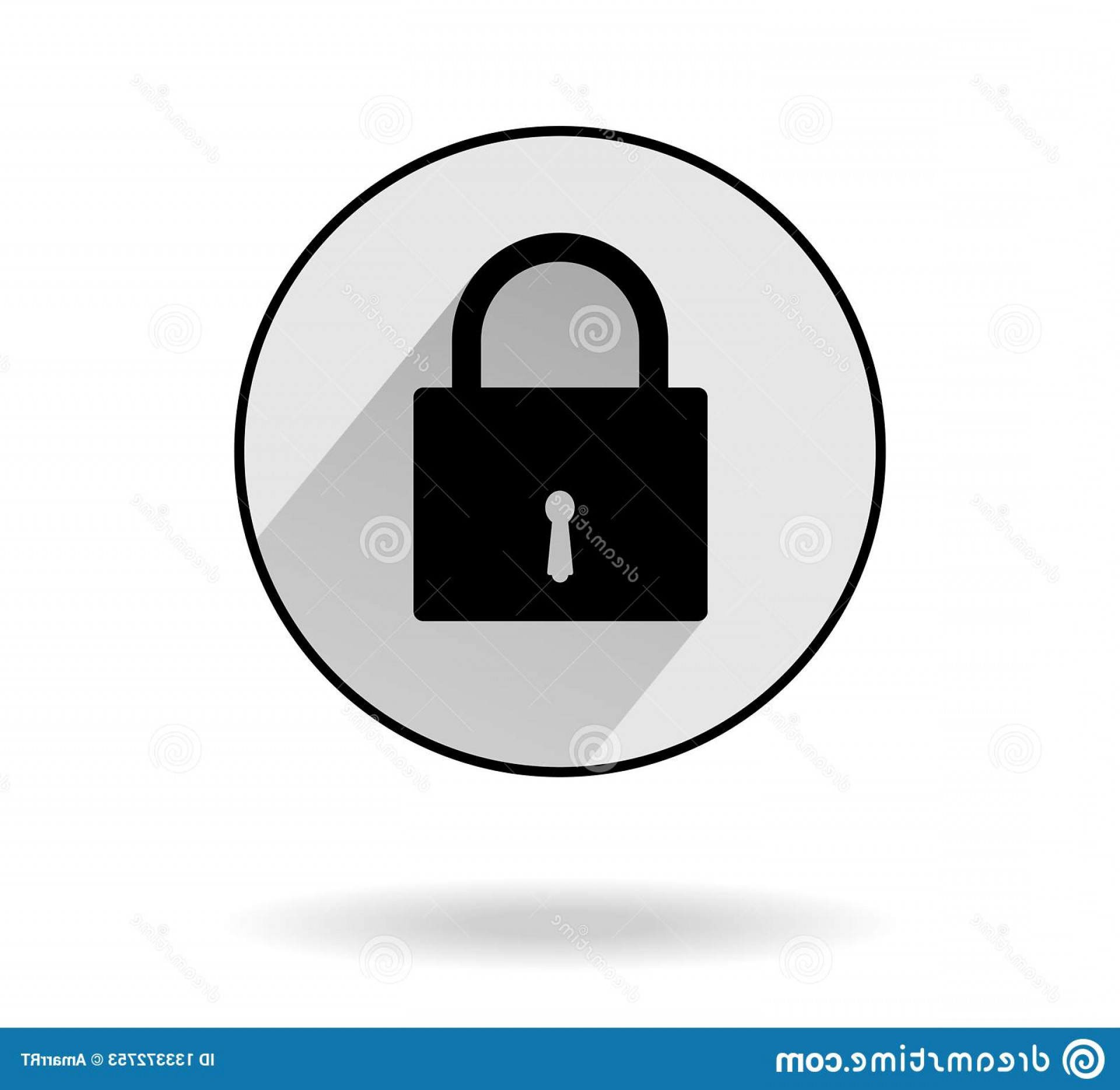 Vector Lock White: Vector Lock Icon Security Privacy Flat Design Isolated White Background Vector Illustrations Vector Lock Icon Security Privacy Image