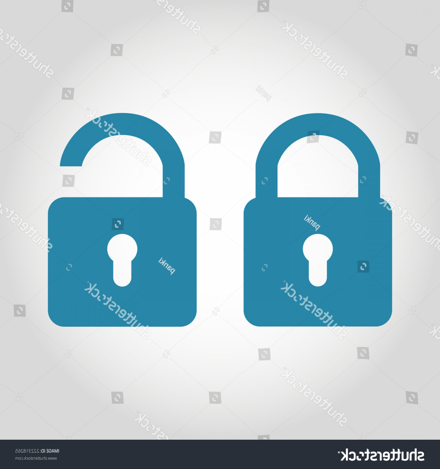 Lock Unlock Icon Vector: Vector Lock Unlock Icon Flat Style