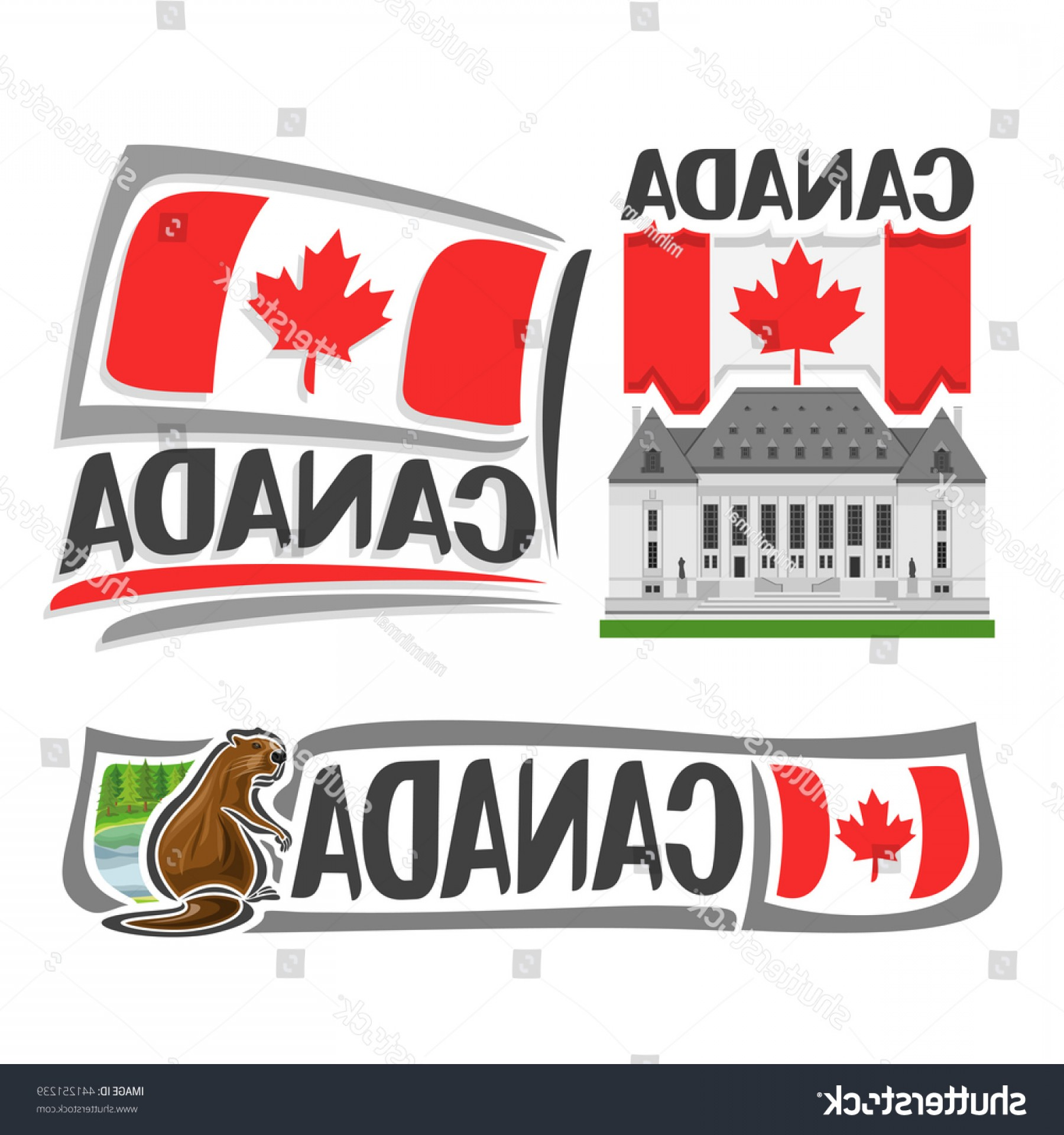 Supreme Logo Vector: Vector Logo Canada Isolated Illustrations
