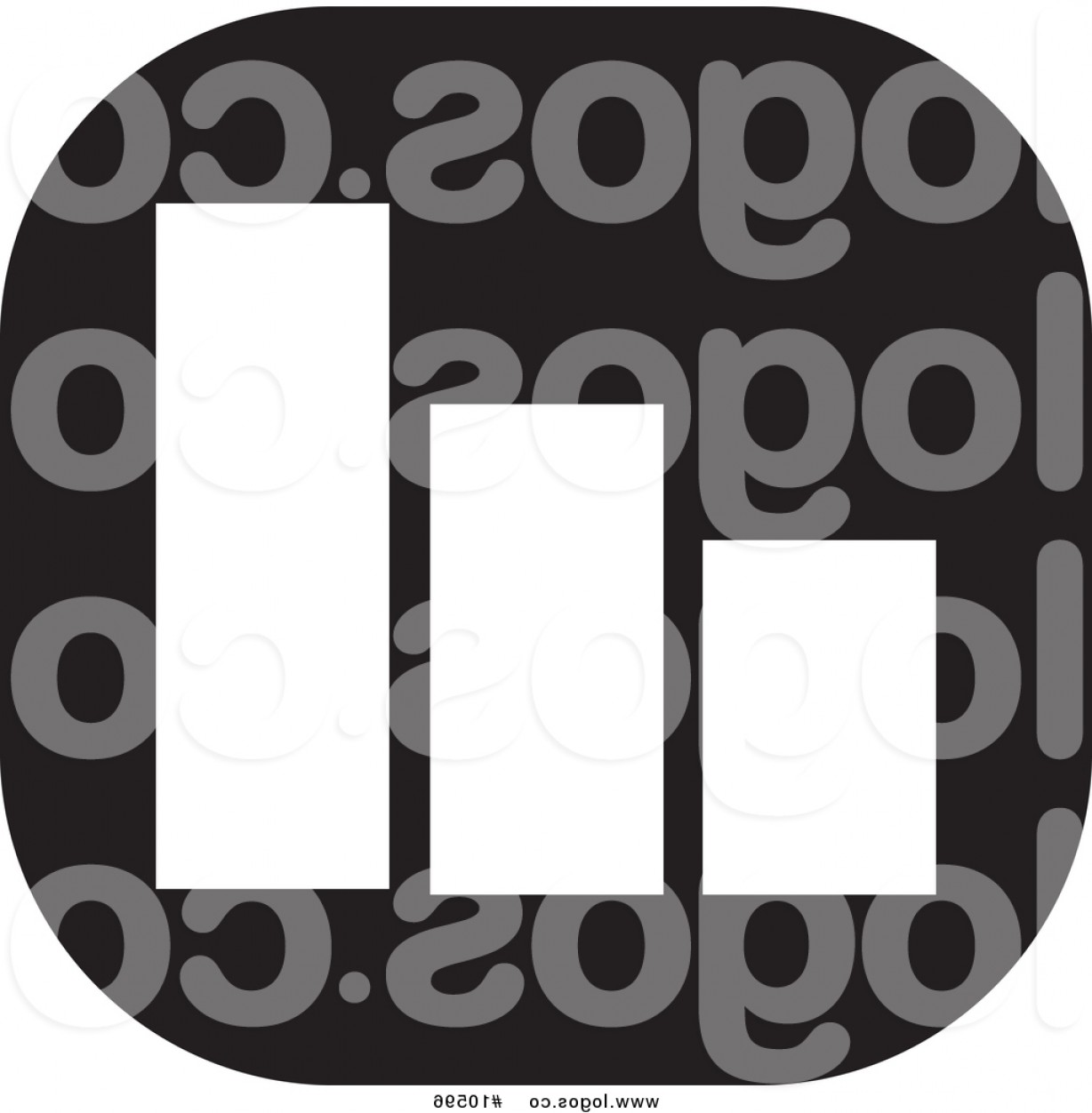 Bar Graph Icon Vector: Vector Logo Of A Black And White Bar Graph Icon By Johnny Sajem