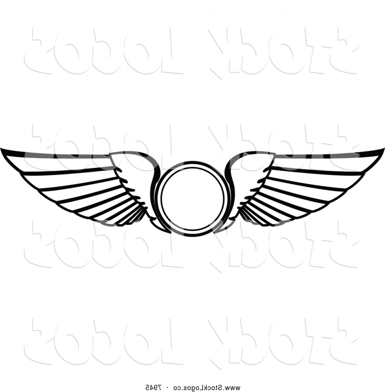 Vector Hi Res Black And White Wing: Vector Logo Of Black And White Wings By Vector Tradition Sm
