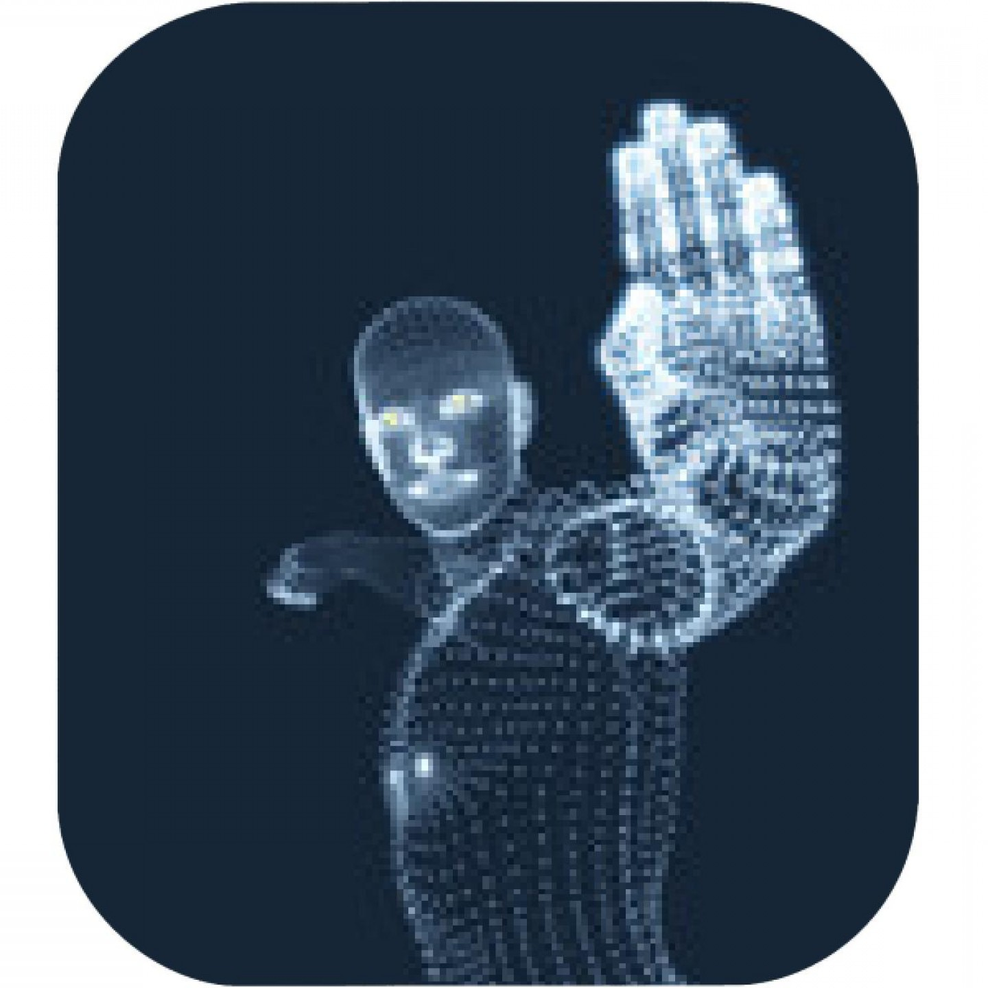 Hand Stop Vector Teal: Vector Man With Hand Up To Stop Human Showing Stop Gesture D Model Of Man D Vector Illustration