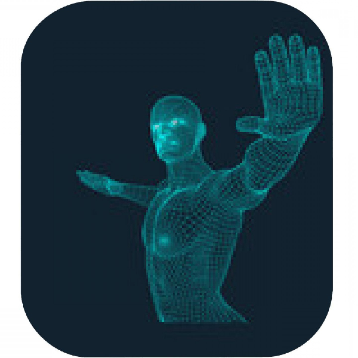 Hand Stop Vector Teal: Vector Man With Hand Up To Stop Human Showing Stop Gesture
