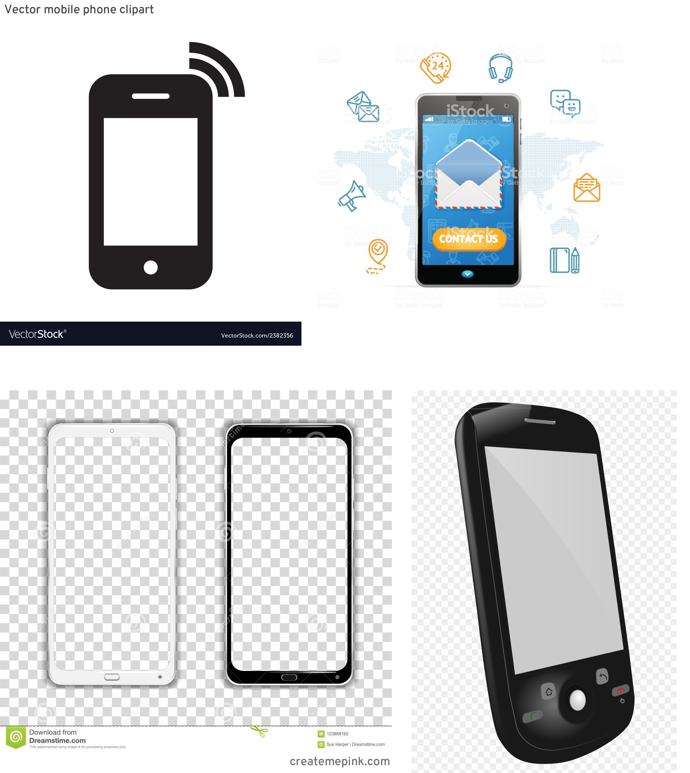 U.S. Cellular Phone Vector: Vector Mobile Phone Clipart