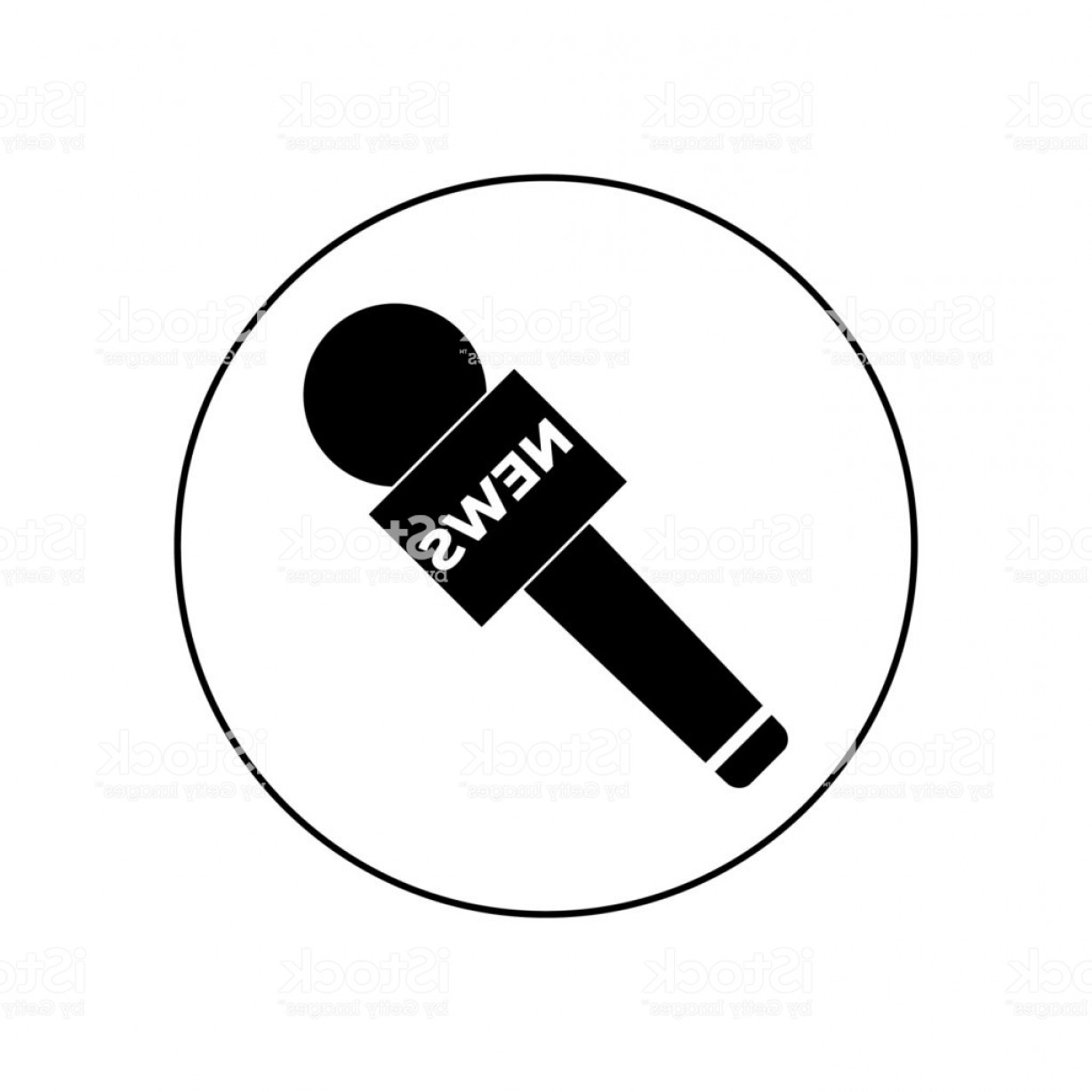 News Microphone Icon Vector: Vector News Microphone Icon Gm
