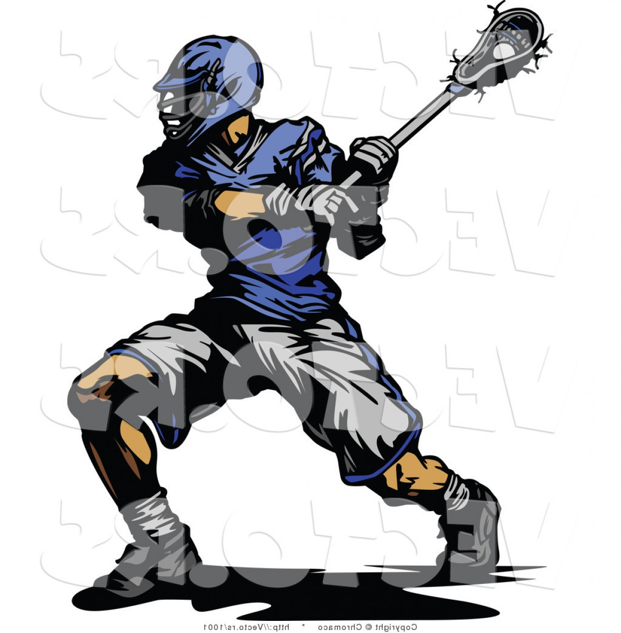 Lacrosse Stick Vector: Vector Of A Competitive Lacrosse Player Swinging Stick By Chromaco
