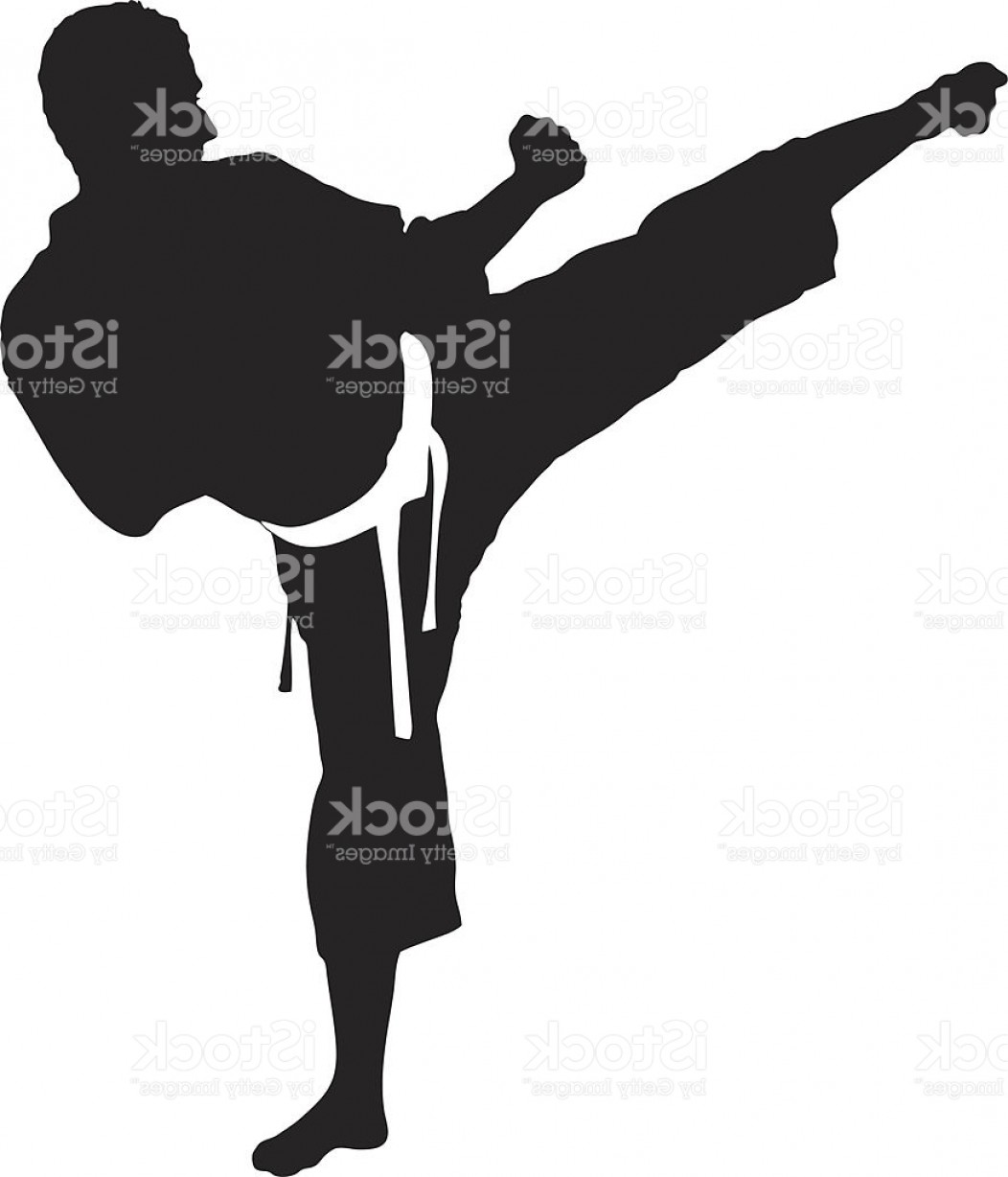 Karate Vector: Vector Of A Karate Man Exercising Gm