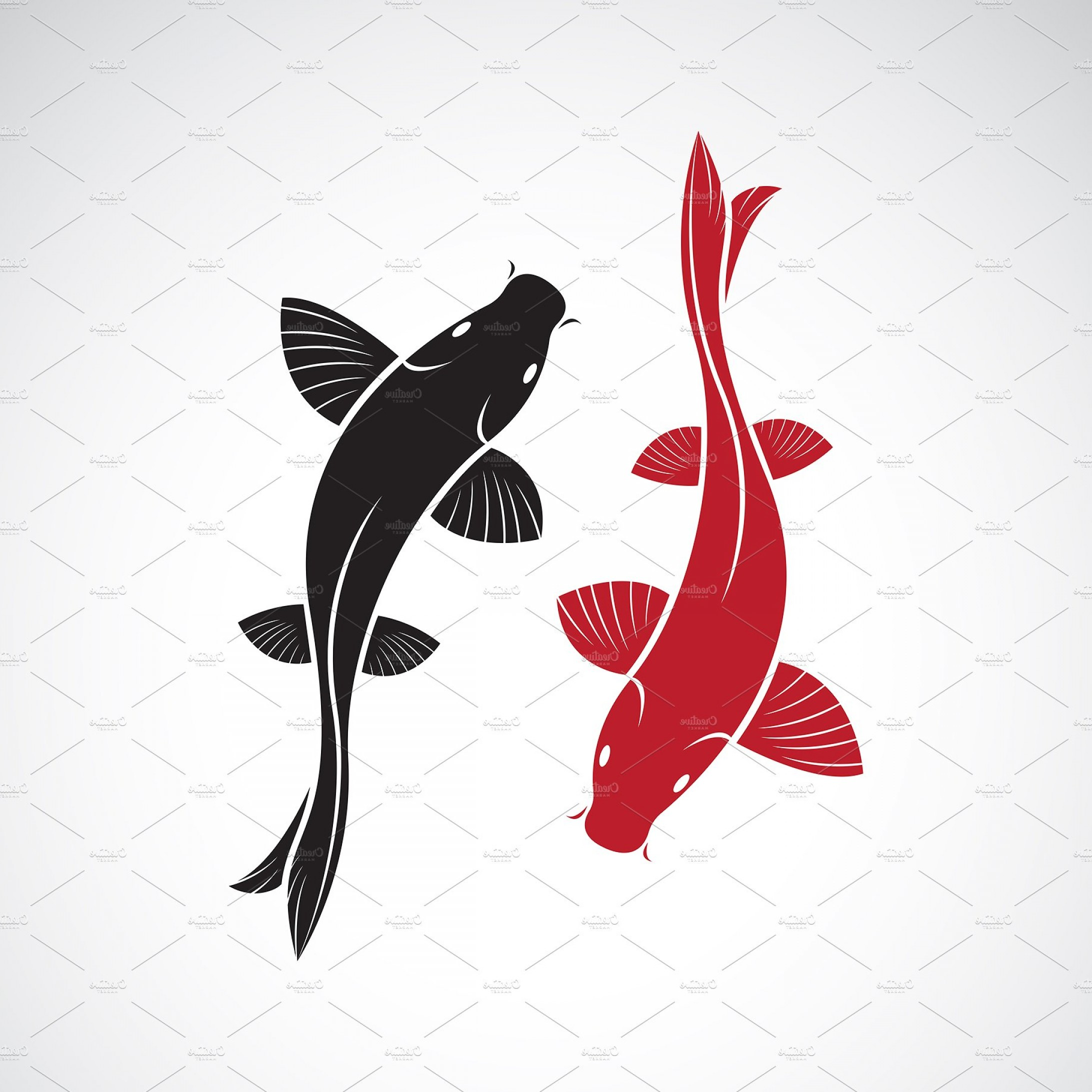 Koi Vector: Vector Of Carp Koi Fish