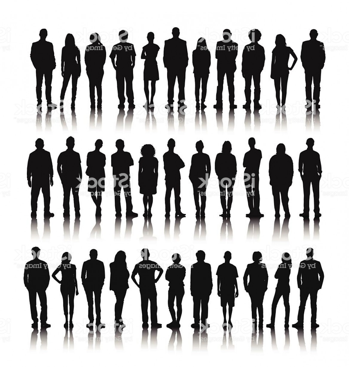People Standing Vector: Vector Of Group Of World People Standing Gm