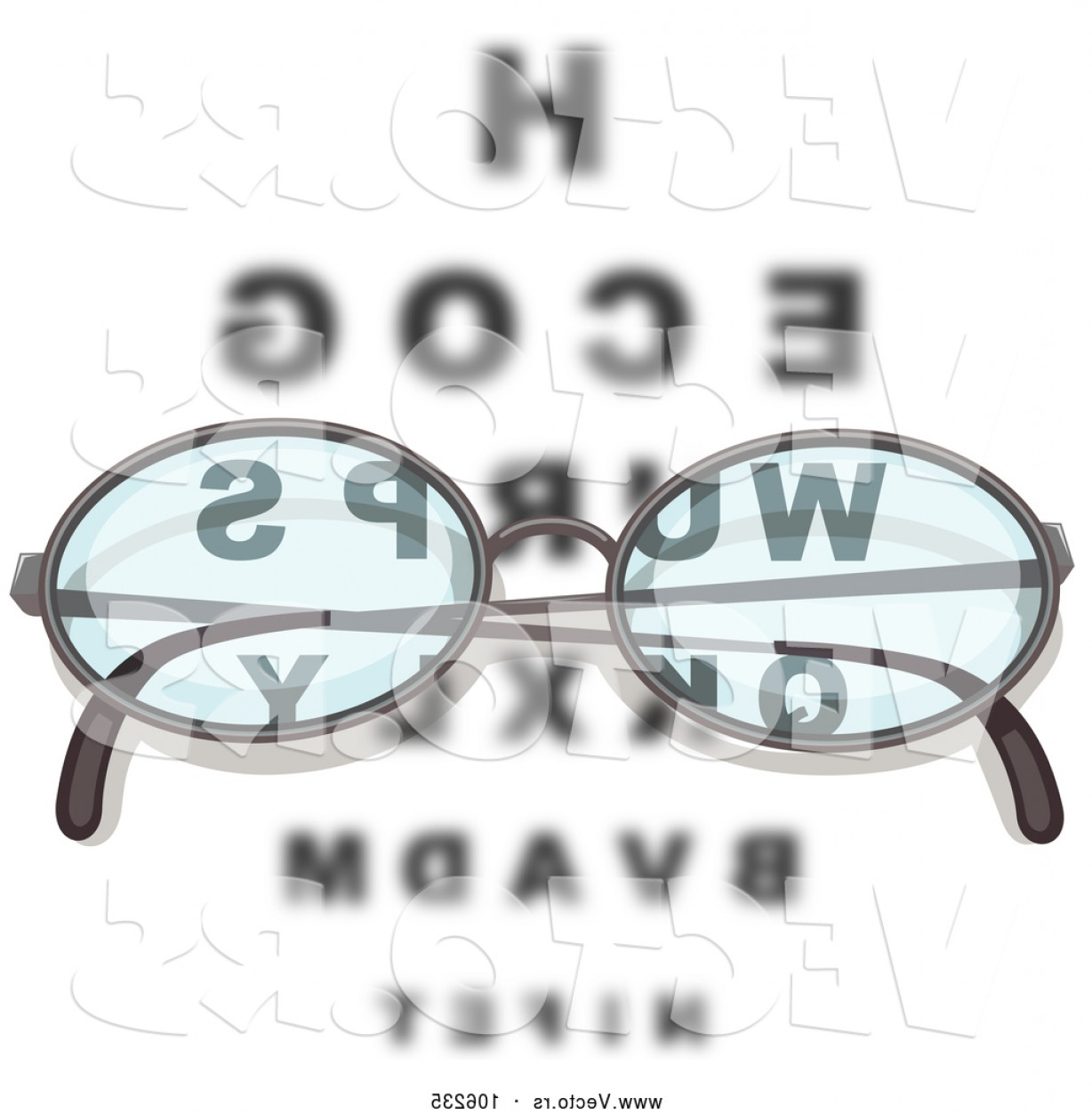 Reading Glasses For Men Vector: Vector Of Pair Of Reading Glasses Over An Eye Chart By Graphics Rf