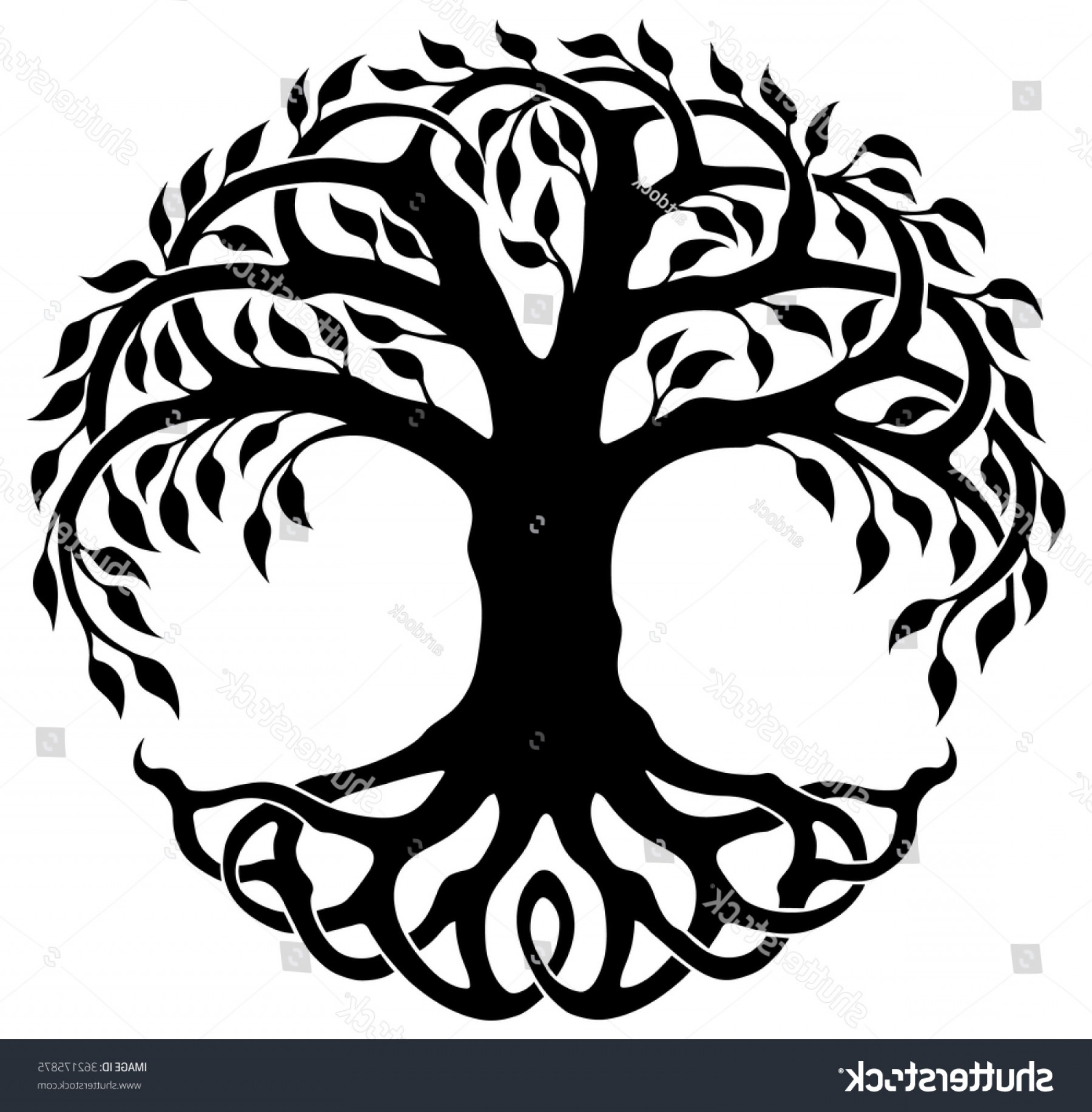 Celtic Tree Vector: Vector Ornament Decorative Celtic Tree Life