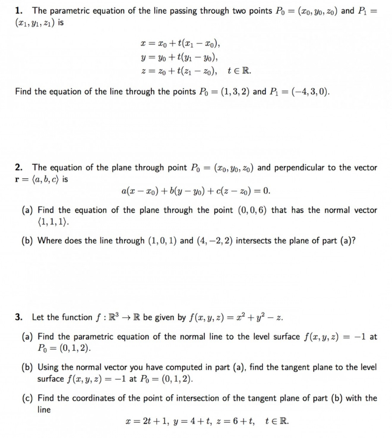 A Line Of Vector Equation R: Vector Parametric Equation Through Two Points
