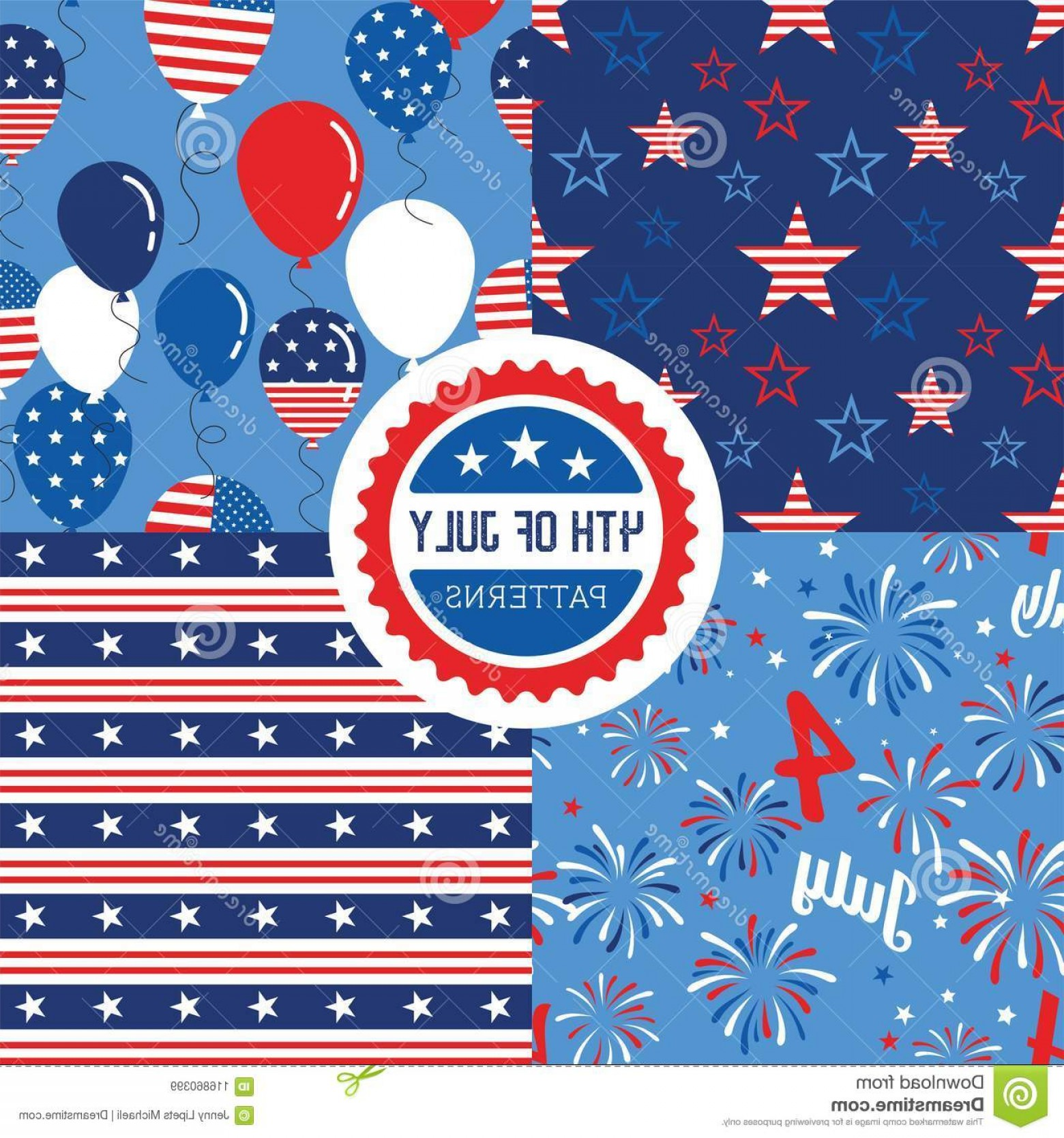 American Flag Stars Only Vector: Vector Pattern Set National Colors United States American Flag Stars Stripes Use Celebration Vector Pattern Set Image